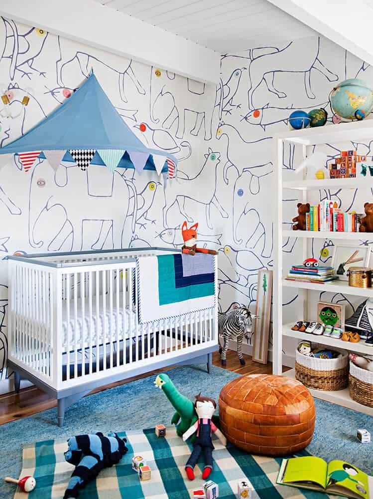 Emily Henderson Nursery Wallpaper