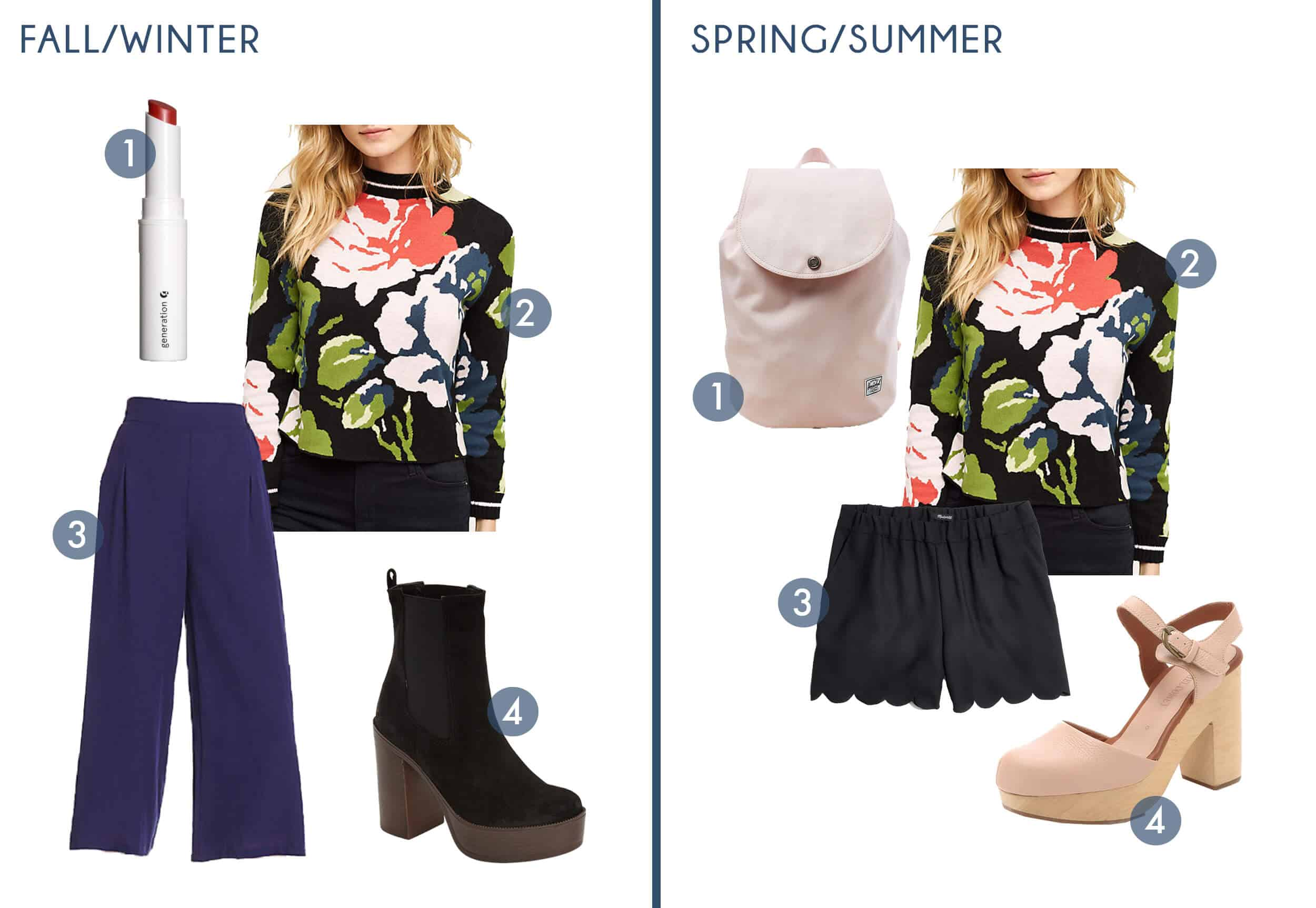 Emily Henderson Transitional Fashion Get The Look Floral Sweater