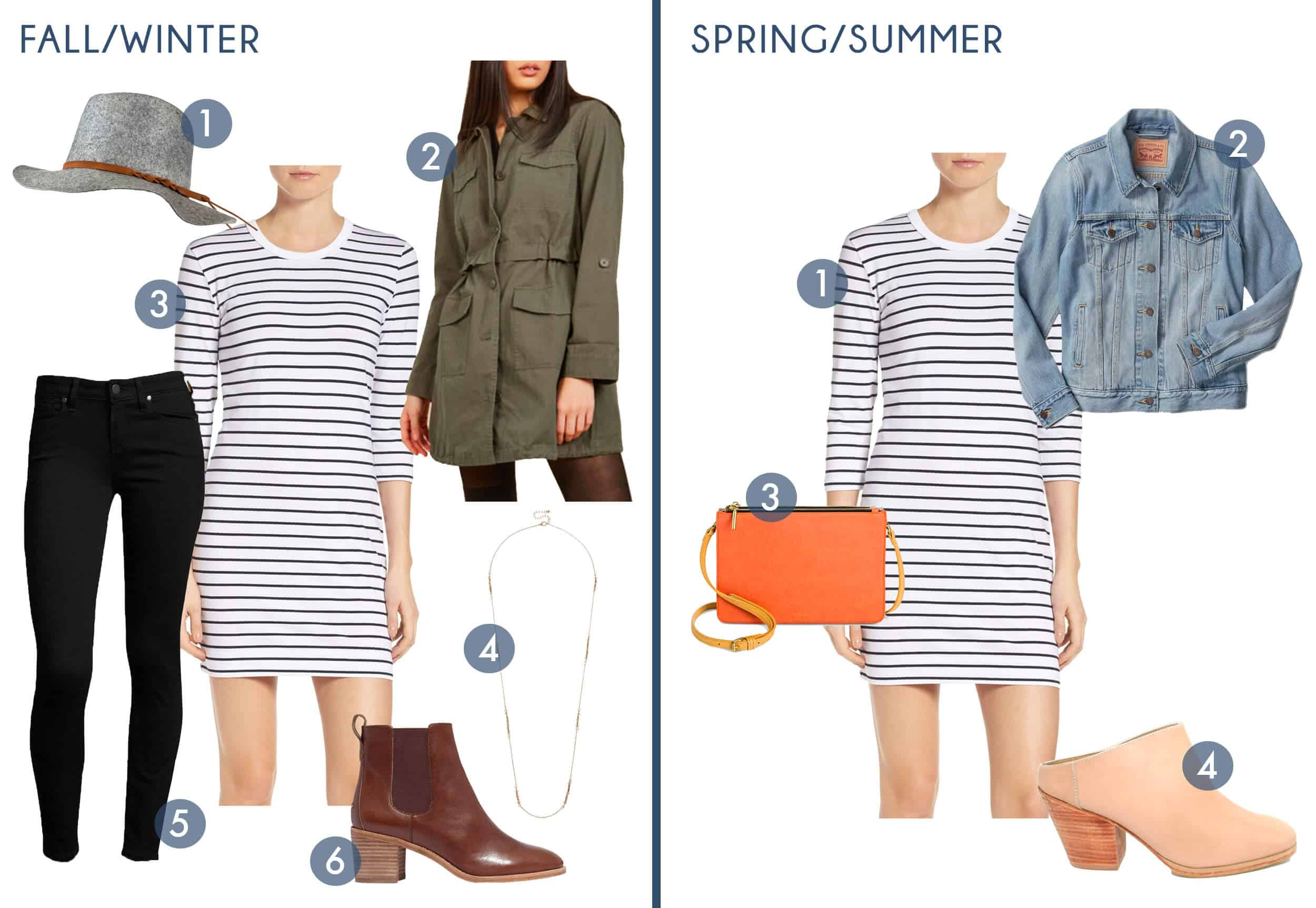 Emily Henderson Transitional Fashion Get The Look Striped Dress