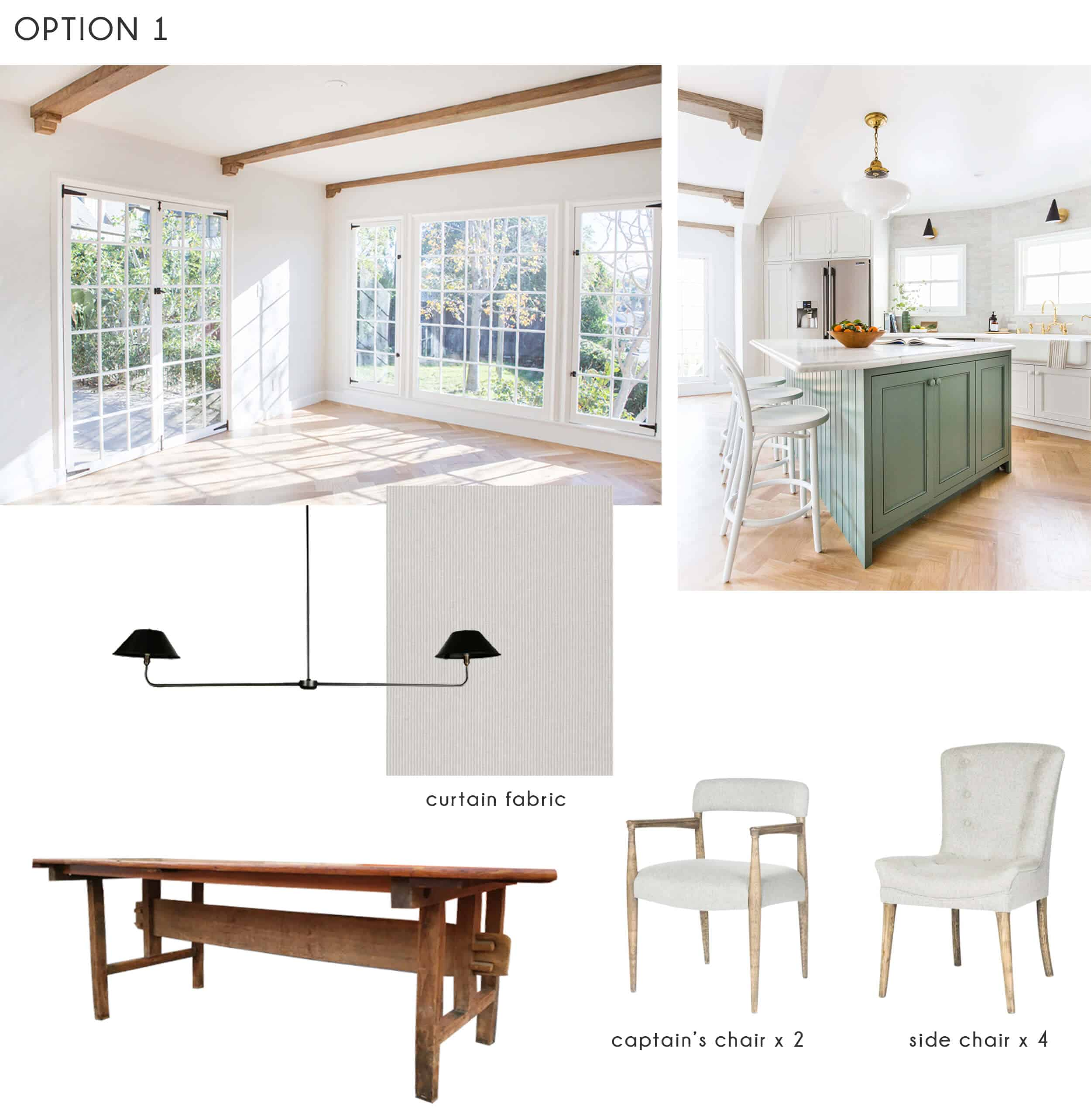 Emily Henderson_Ask the Audience_Dining Room_Chairs_Table_Option 1