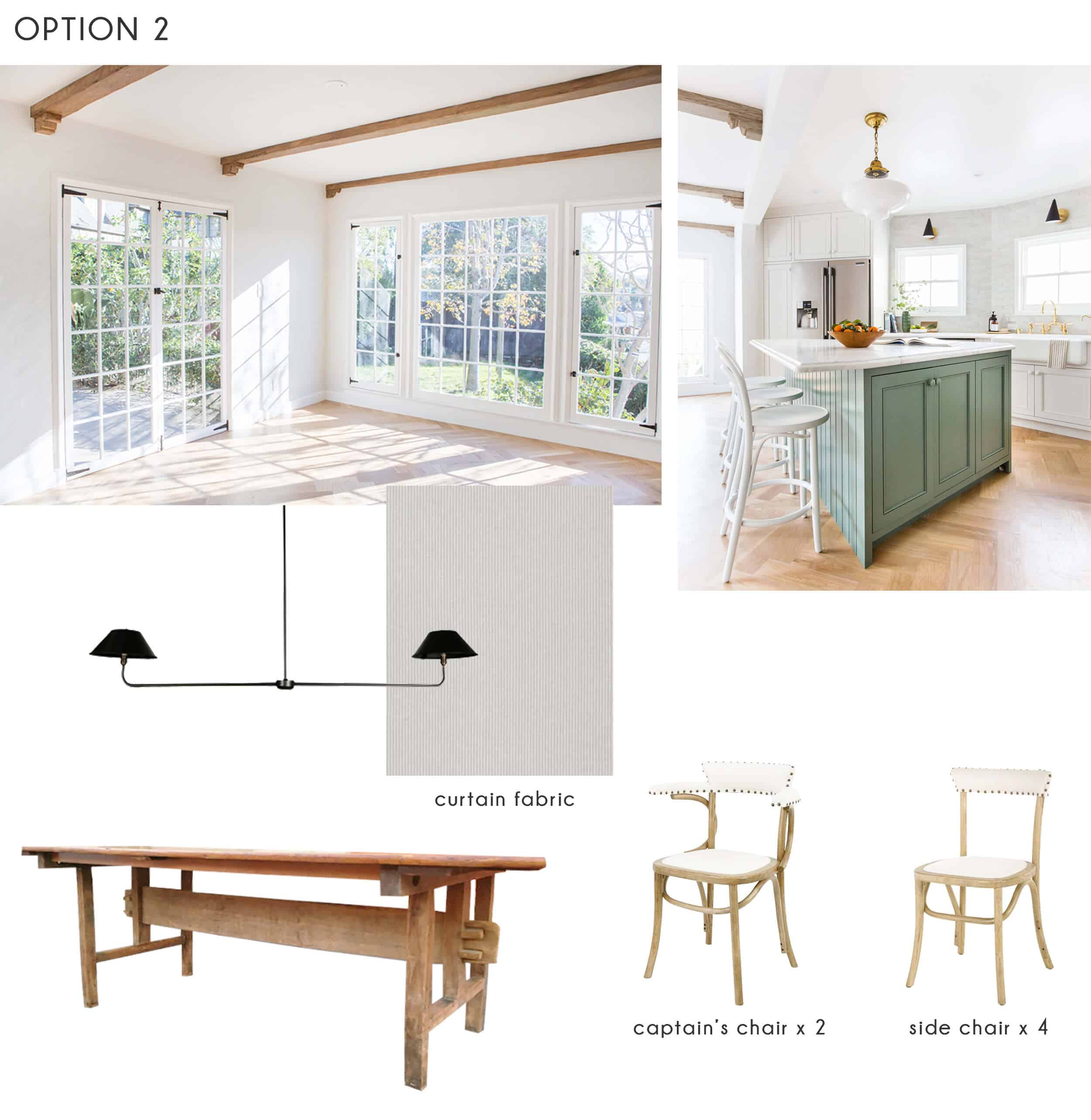Emily Henderson_Ask the Audience_Dining Room_Chairs_Table_Option 2