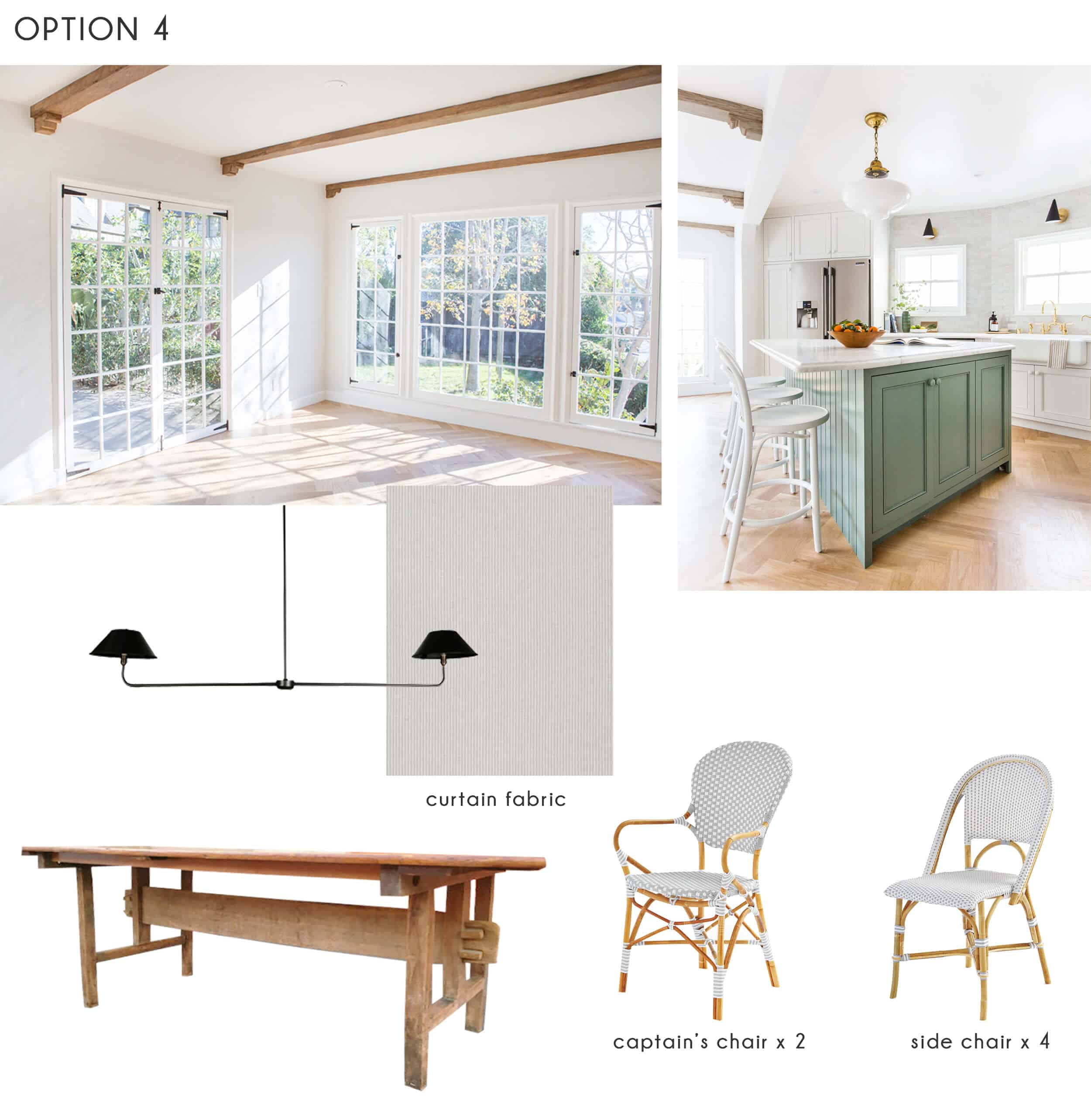 Emily Henderson_Ask the Audience_Dining Room_Chairs_Table_Option 4