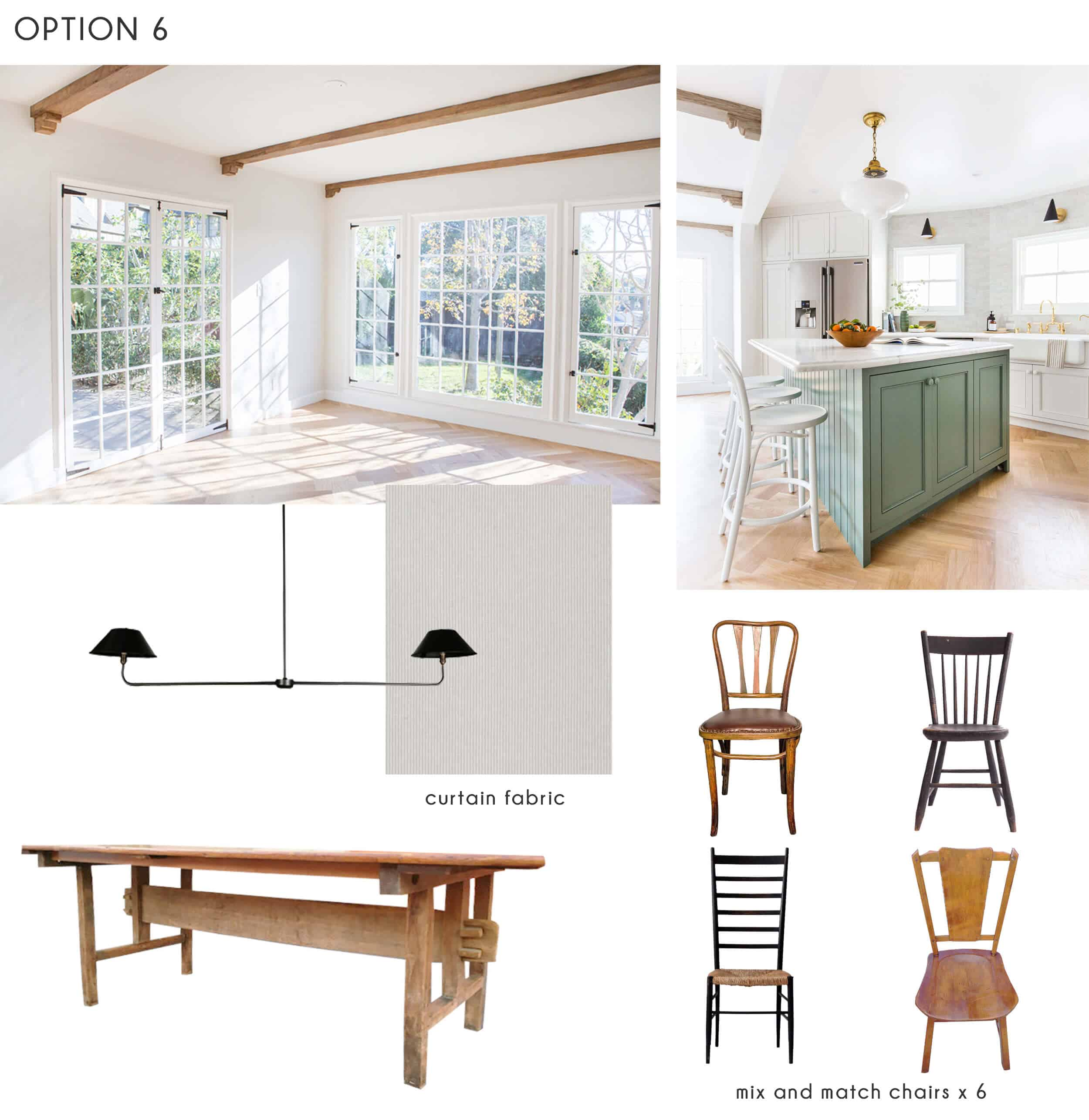 Emily Henderson_Ask the Audience_Dining Room_Chairs_Table_Option 6