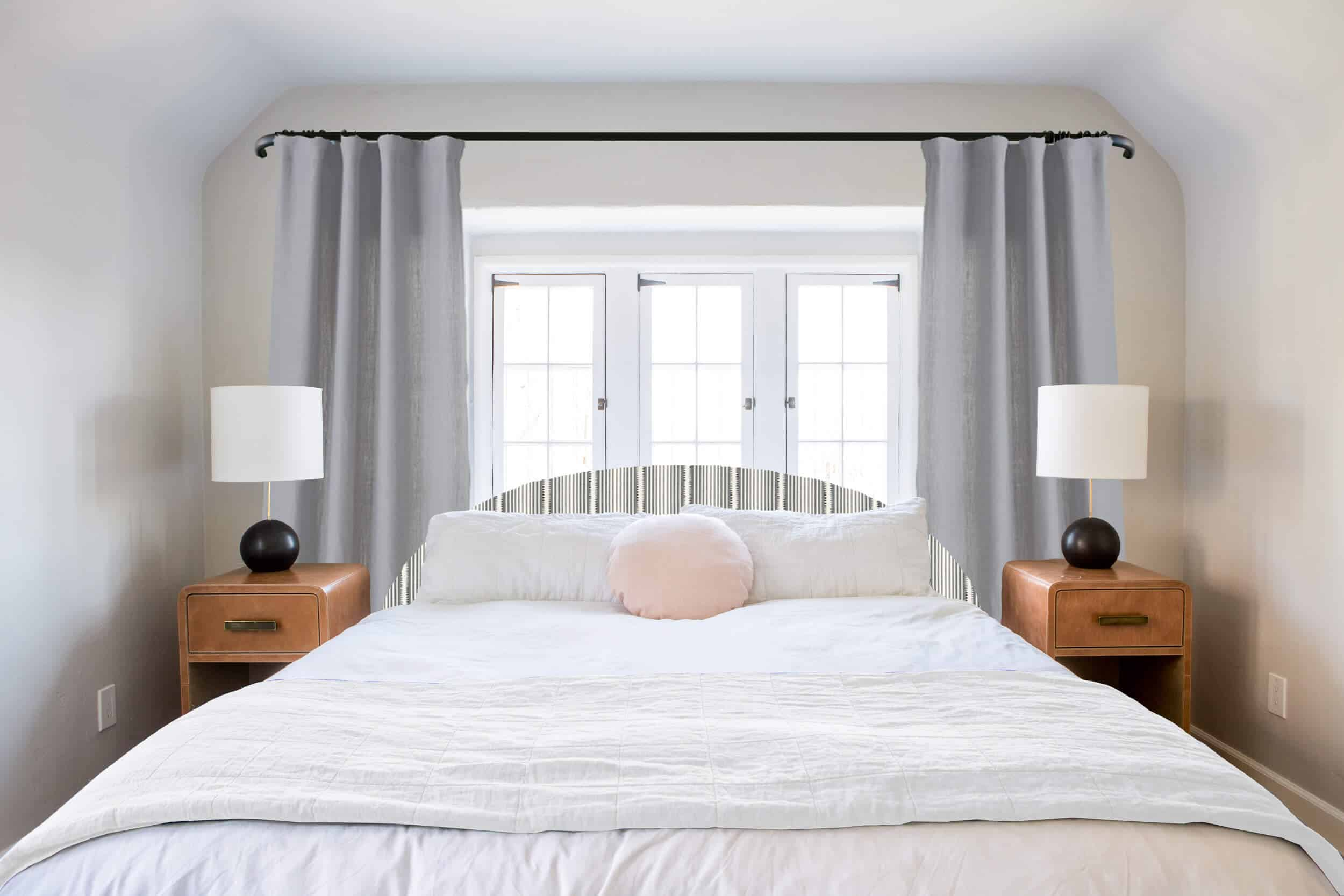 Emily Henderson_Ask the Audience_Master Bedroom_Headboard_Low_Profile_Curve_White Blanket