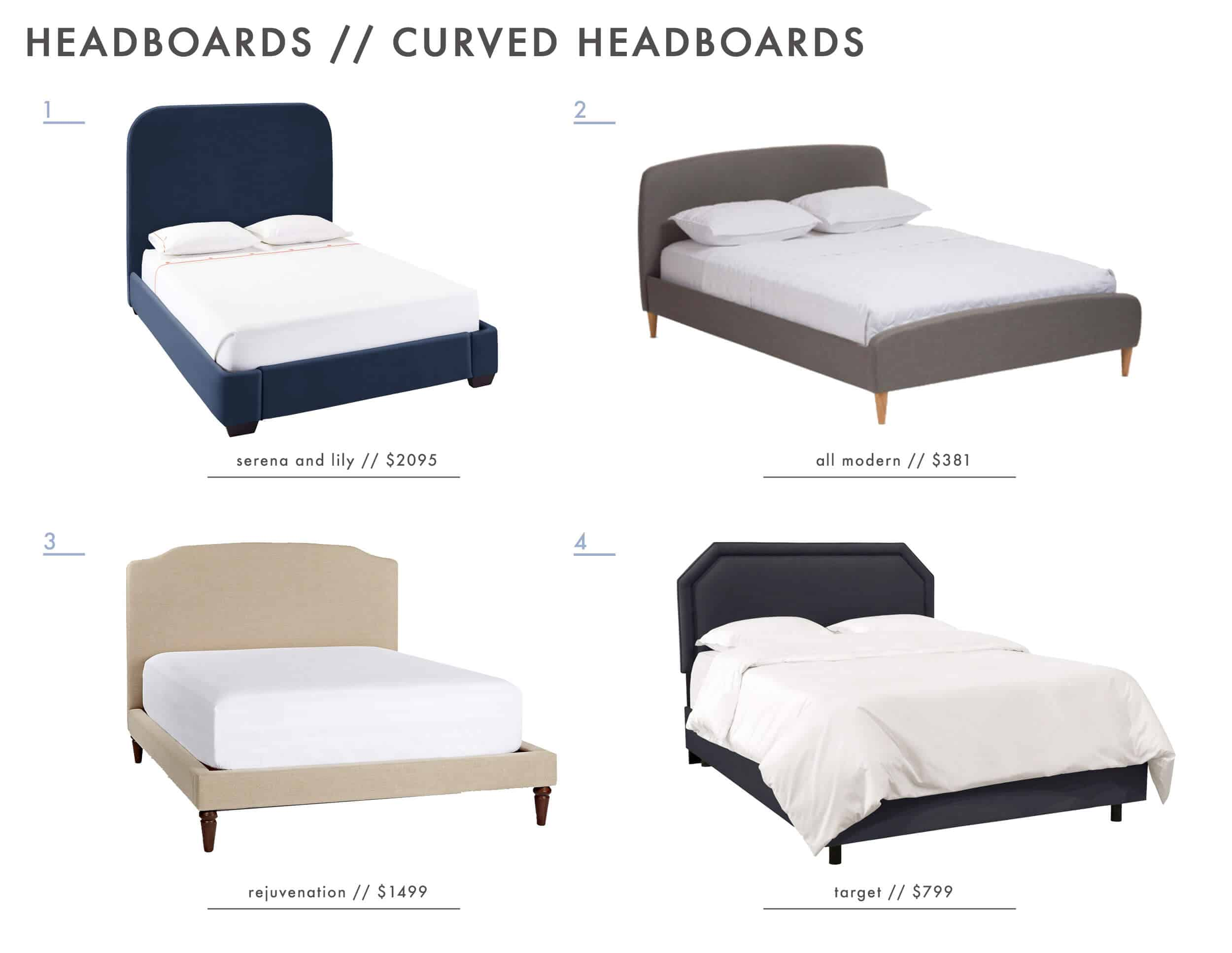 Emily Henderson_Ask the Audience_Master Bedroom_Low Profile_Headboards_Curved_Roundup