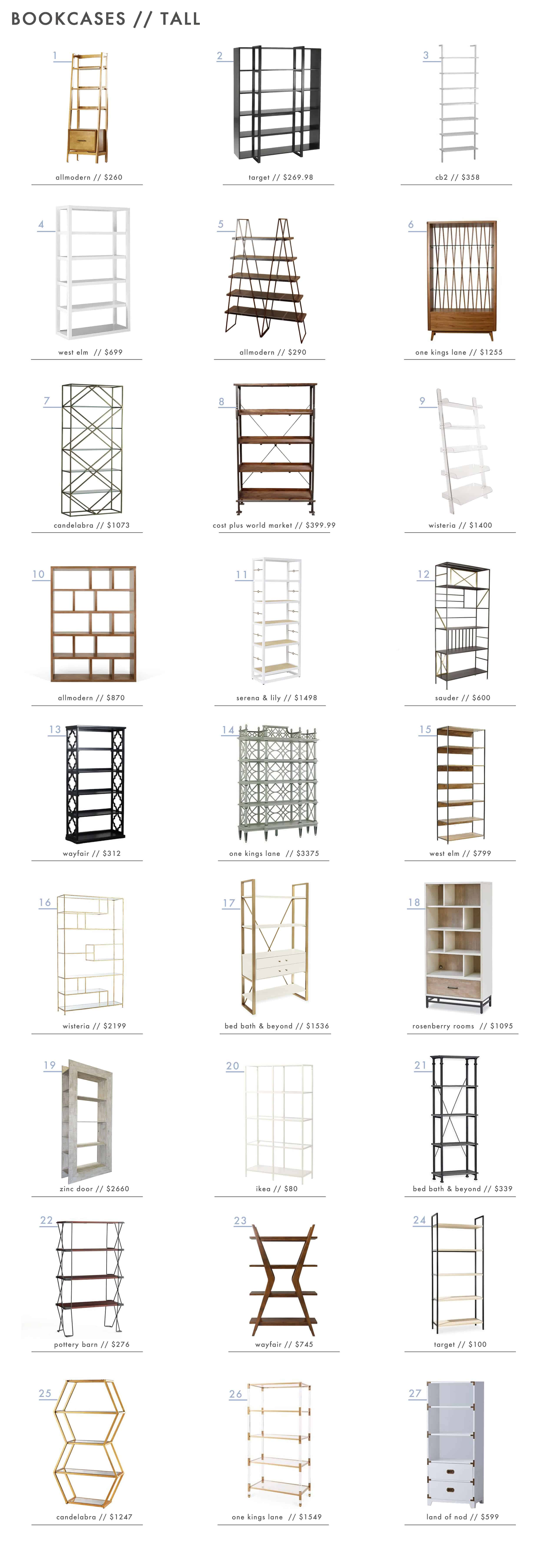 Emily Henderson_Bookcases_Shelving_Organization_Tall_Roundup
