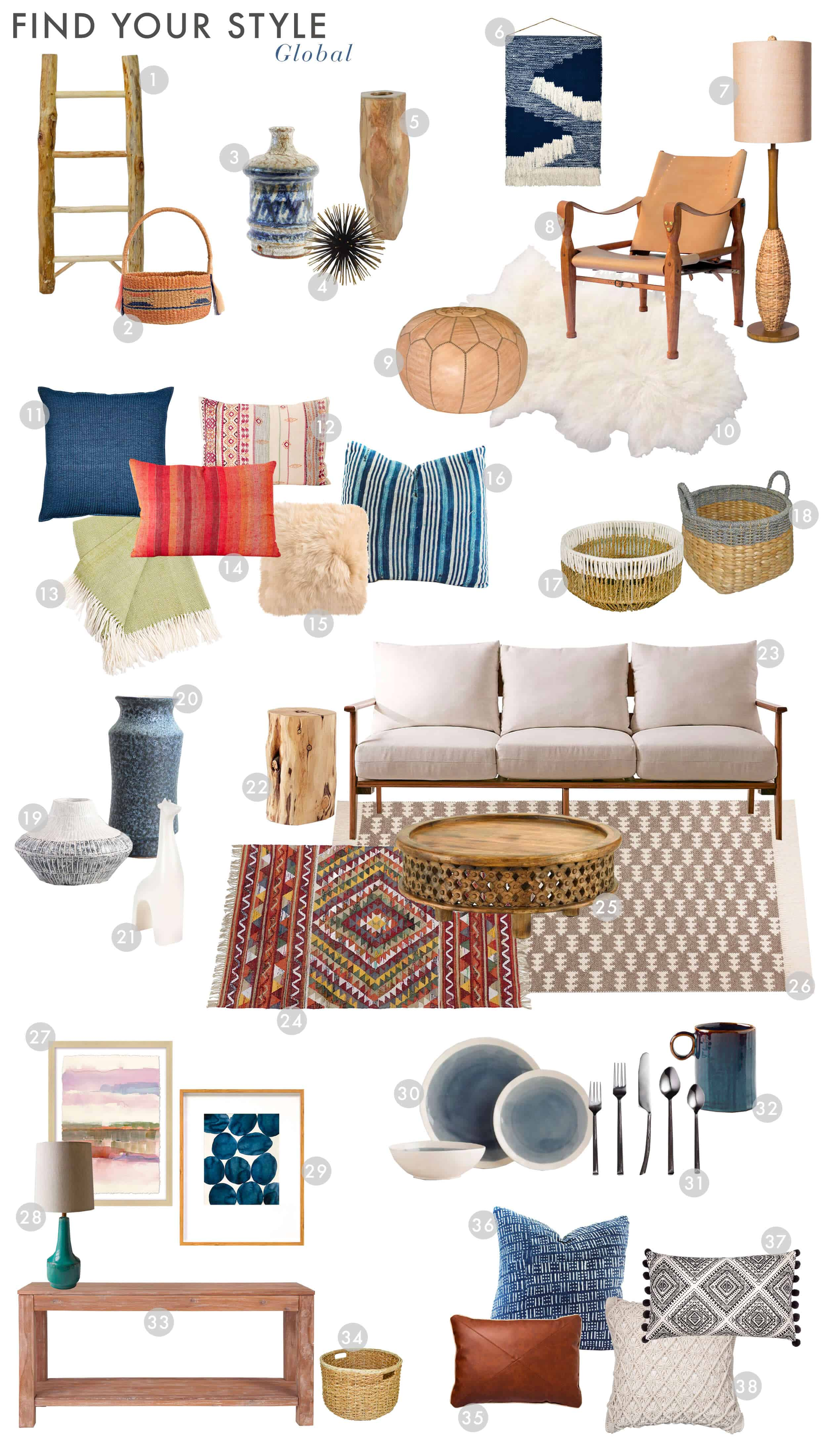 Emily Henderson_Find Your Style_Style Quiz_Vignettes_Bohemian_Global_Get the Look