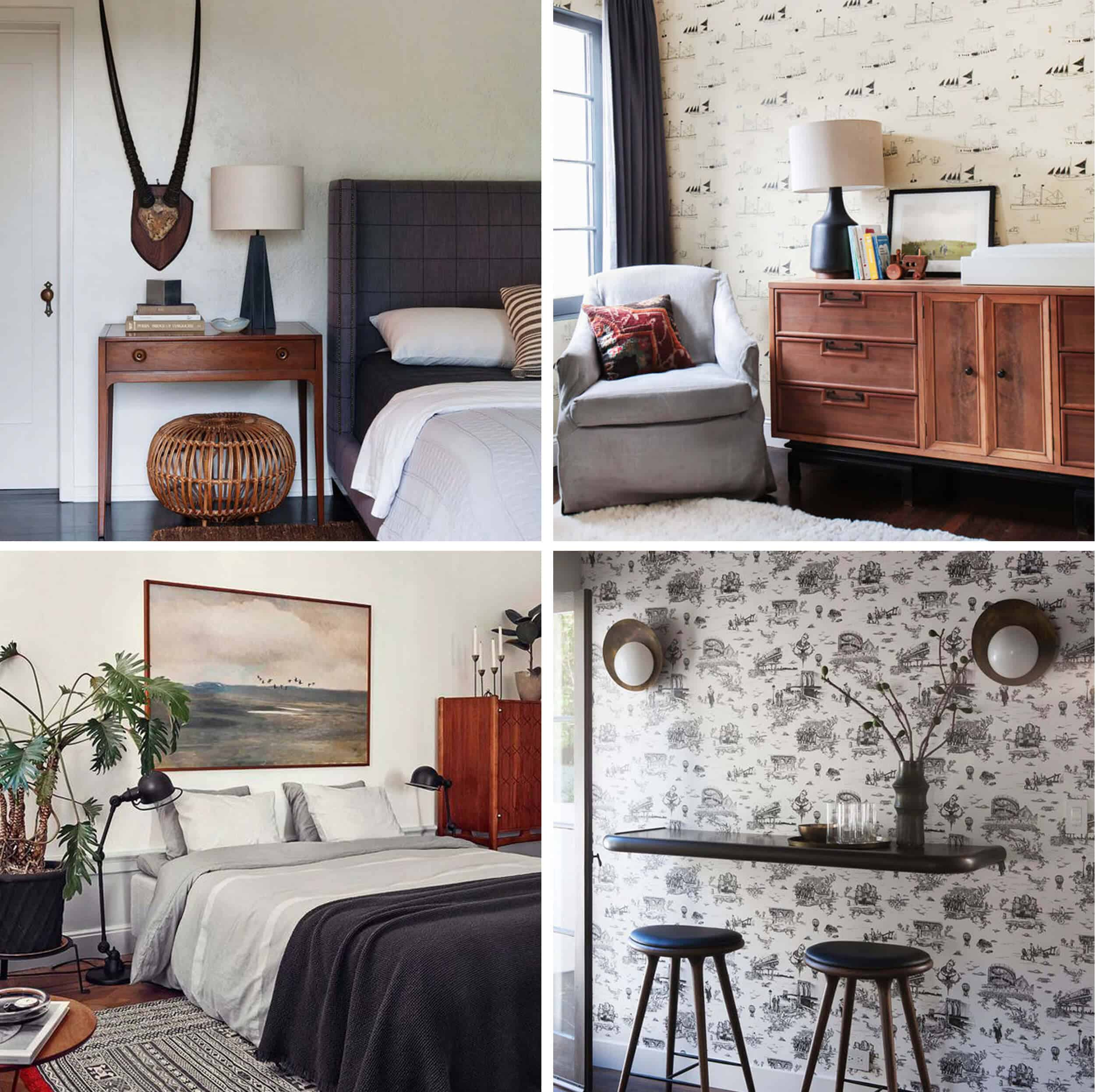 Emily Henderson_Guest Bedroom_Traditional_Modern_Dark_Eclectic_Black_Inspiration_Photos