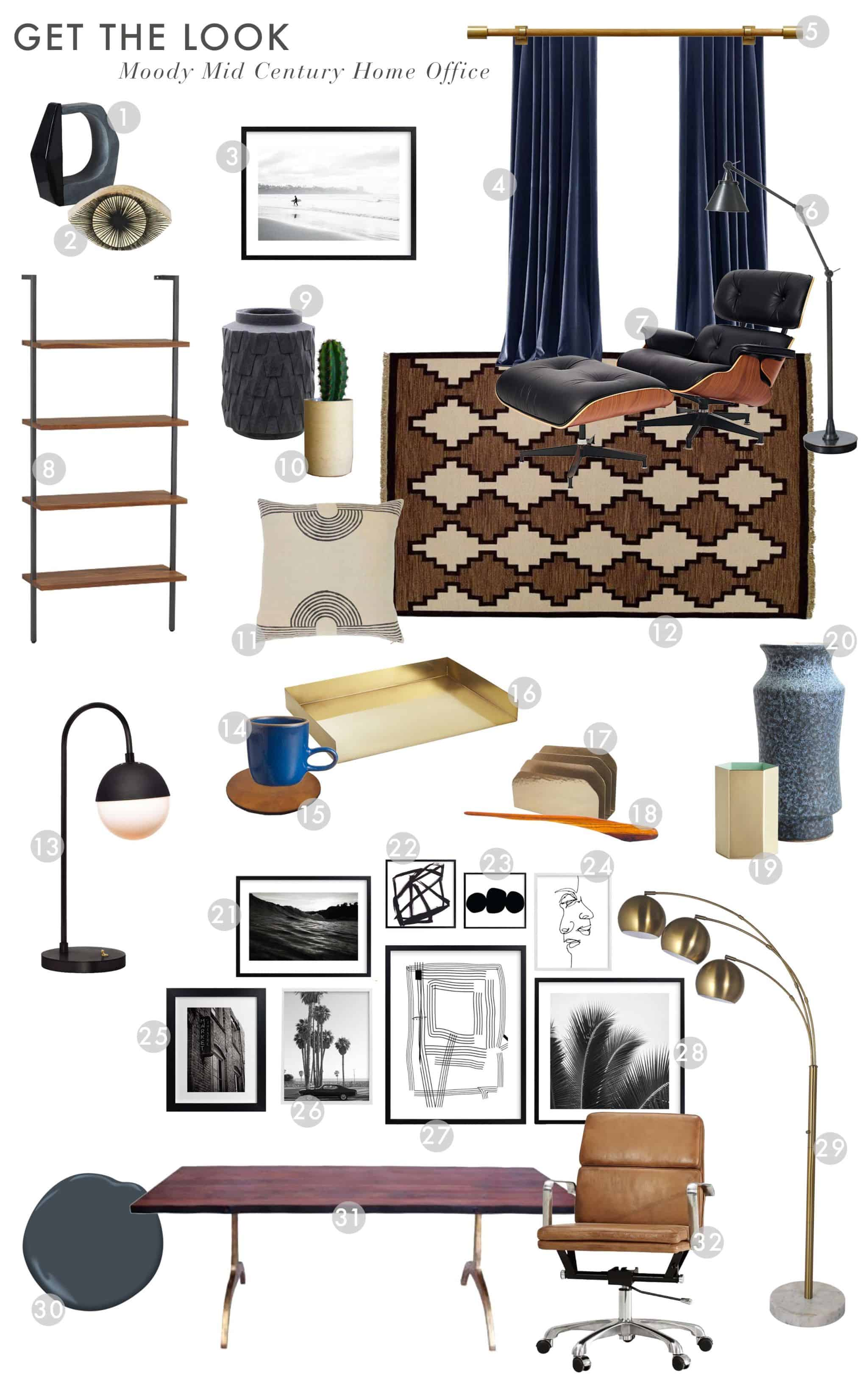 Emily Henderson_Office_Masculine_Navy_Wood_Modern_Get the Look