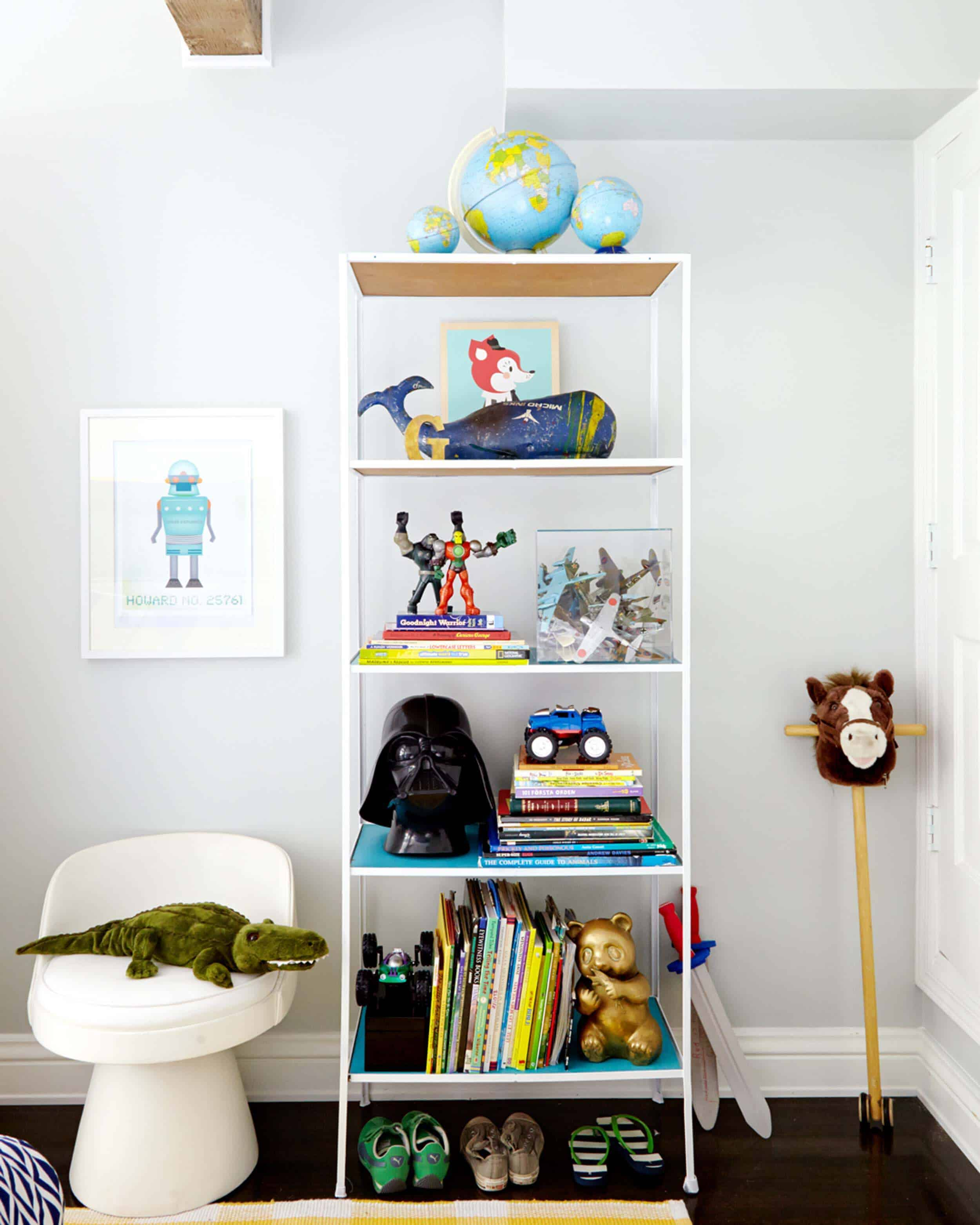 Emily Henderson_Shelves_Tall_WIde_Accent_Organization_Bookcase_1