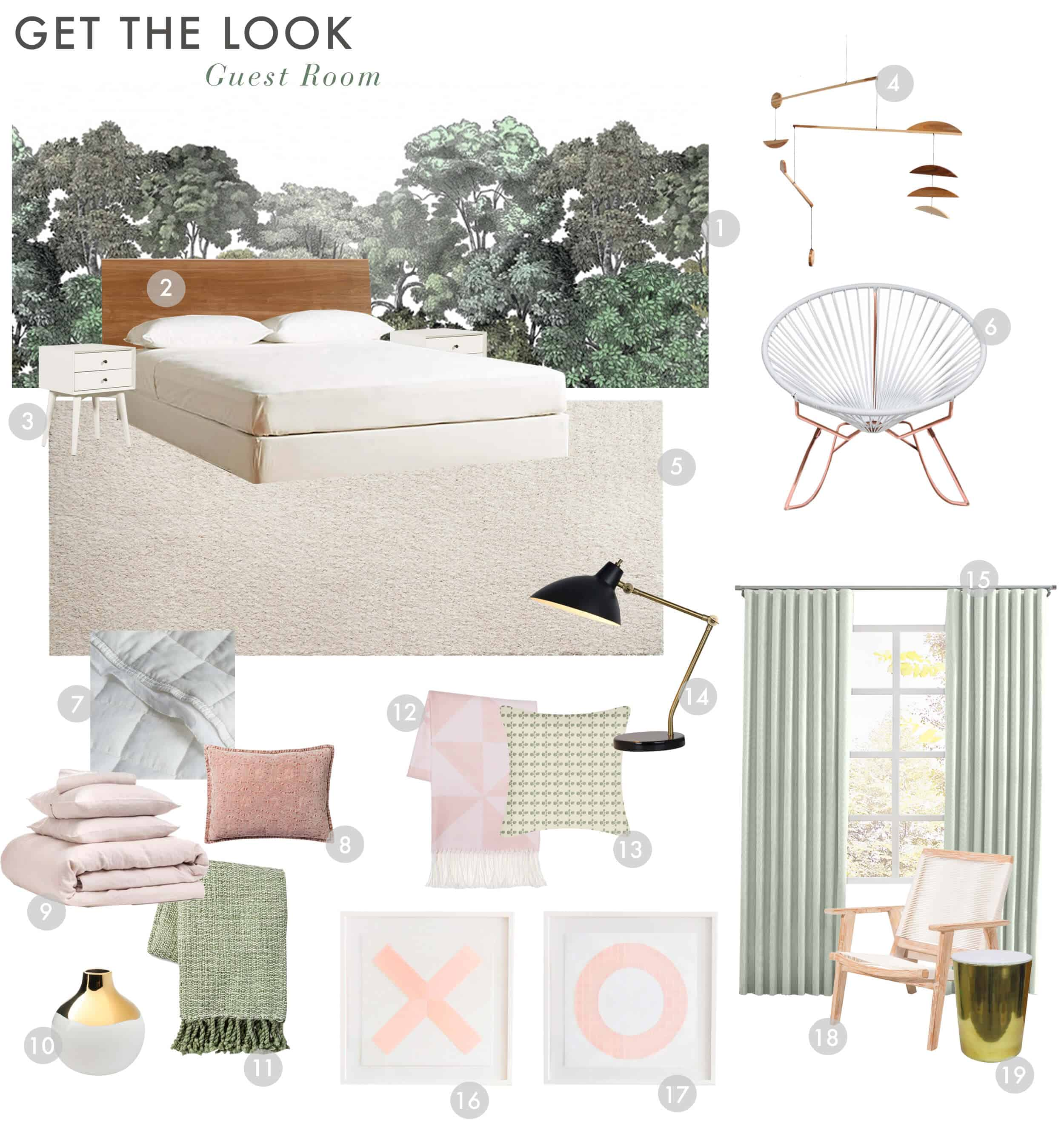 Emily Henderson_Staging to Sell_Guest Room_Light_Natural_Floral_Get the Look