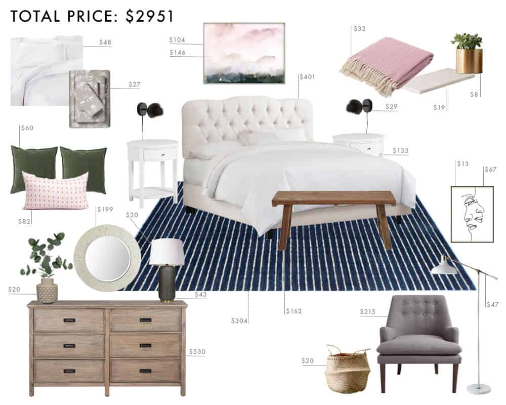 Emily Henderson_Budget Rooms_1 Room_3 Ways_Modern Tradition_Bedroom_3000