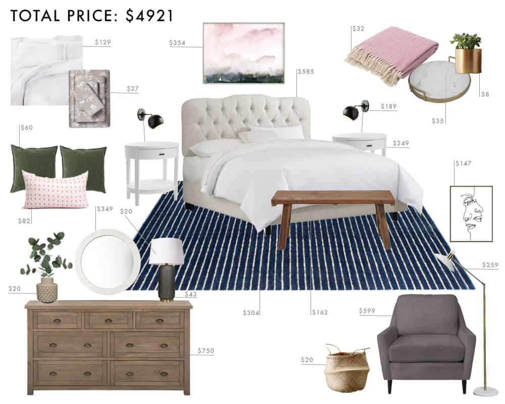 Emily Henderson_Budget Rooms_1 Room_3 Ways_Modern Tradition_Bedroom_5000