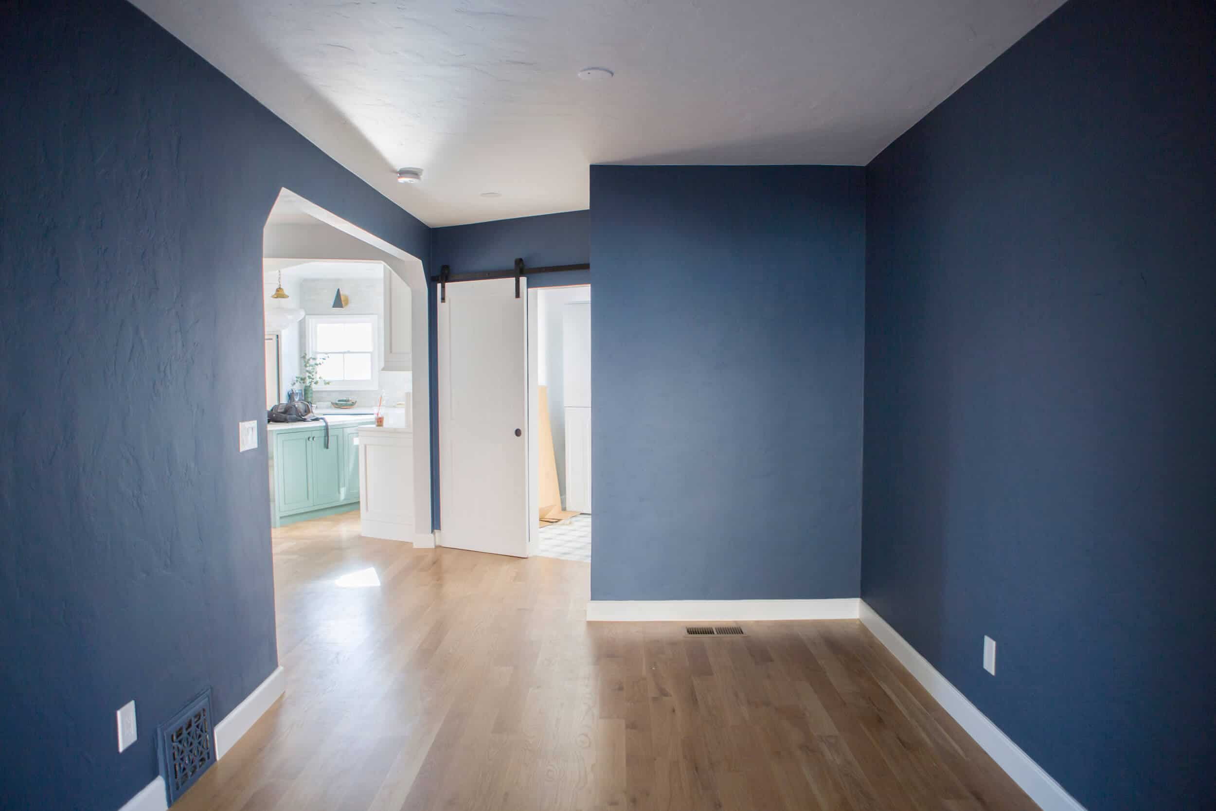 Emily Henderson_Family Room_Blue Paint_Tudor_Ask the Audience_Before Move In_4