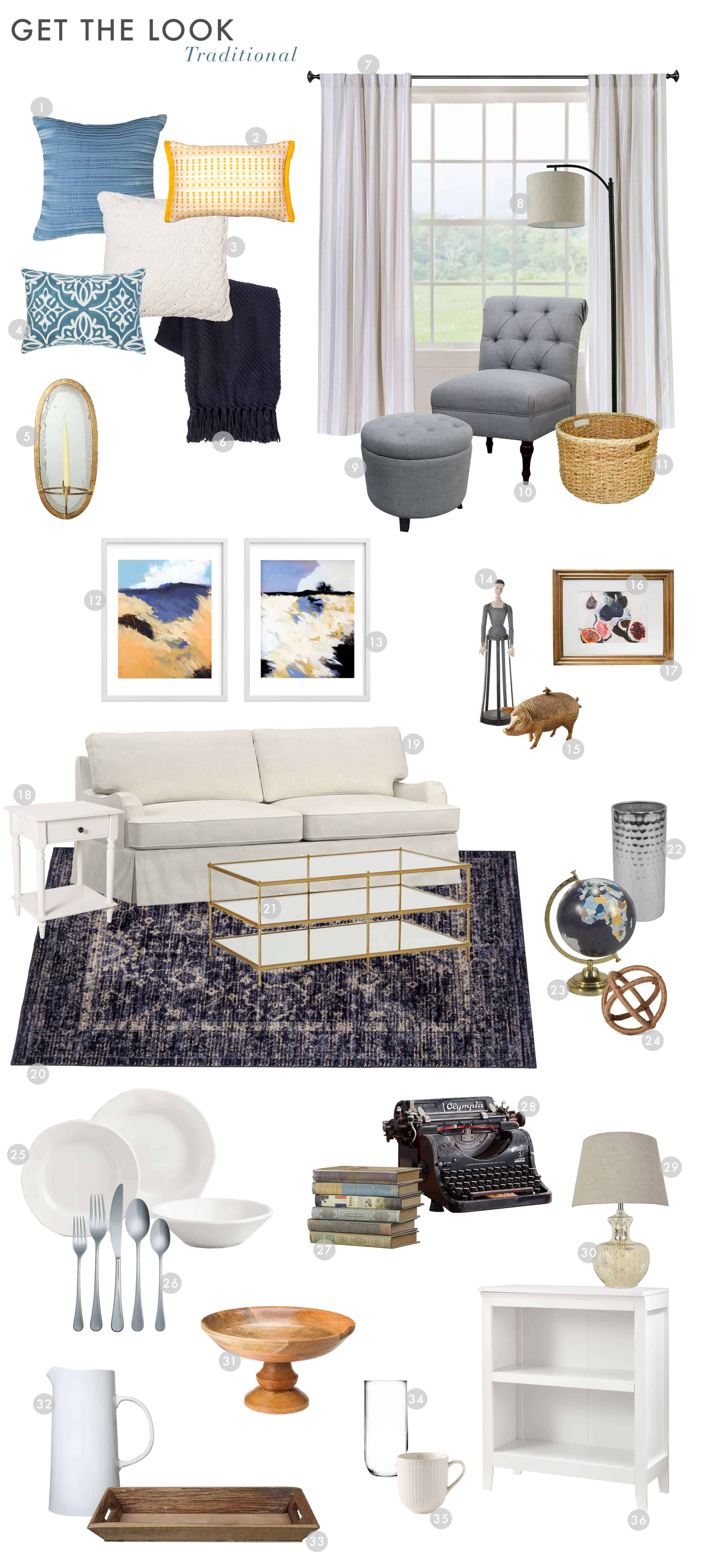 Emily Henderson_Find Your Style_Style Quiz_Vignettes_Traditional_Get the Look_2