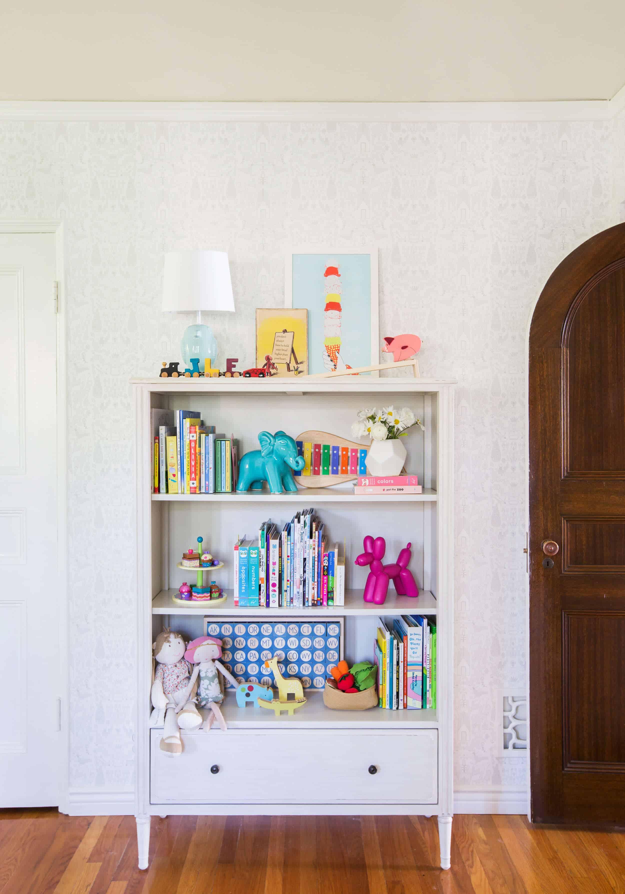 Emily Henderson_Full Design_Little Girls Room_Pink_Gray_Playful_Pics_1