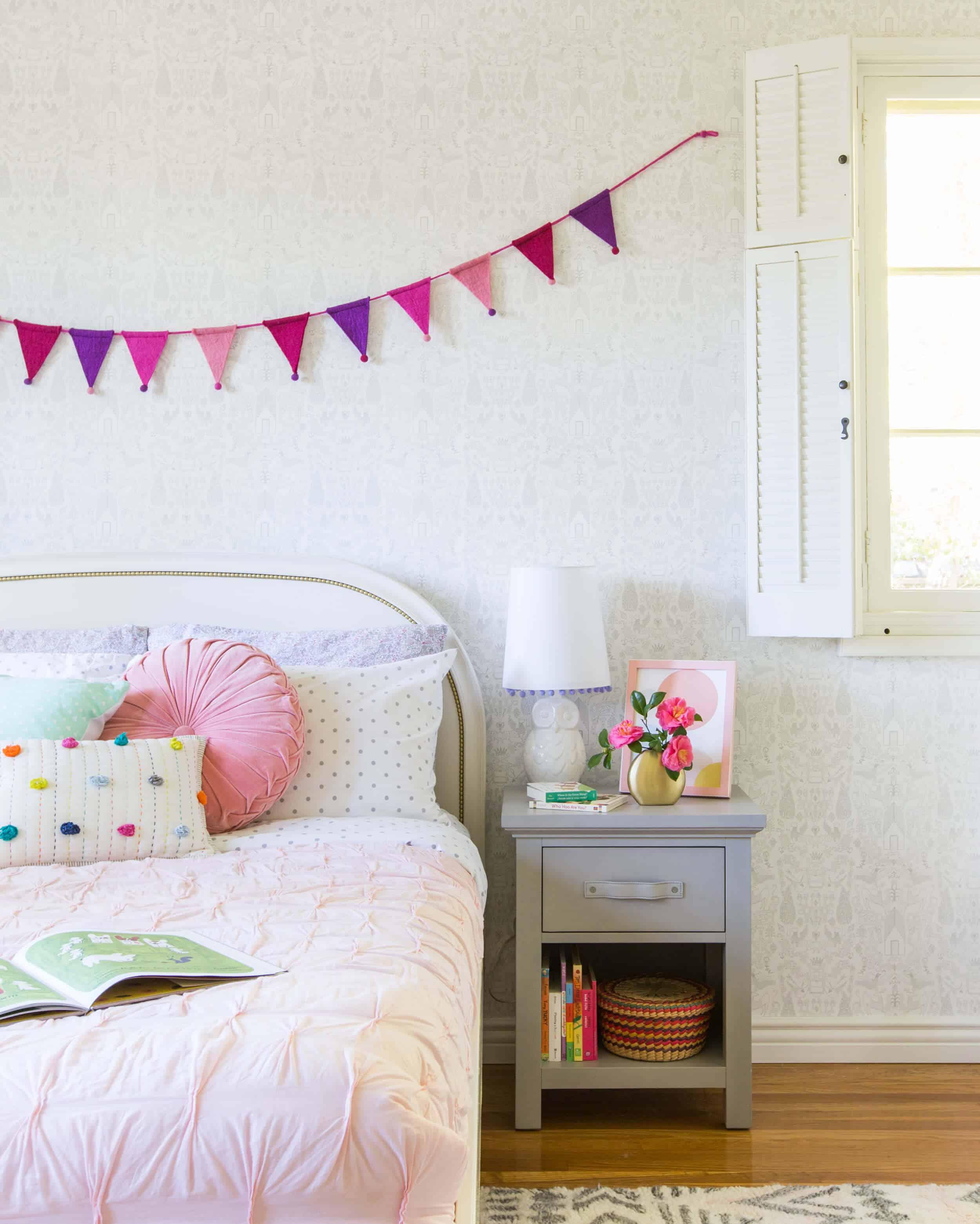 Emily Henderson_Full Design_Little Girls Room_Pink_Gray_Playful_Pics_5