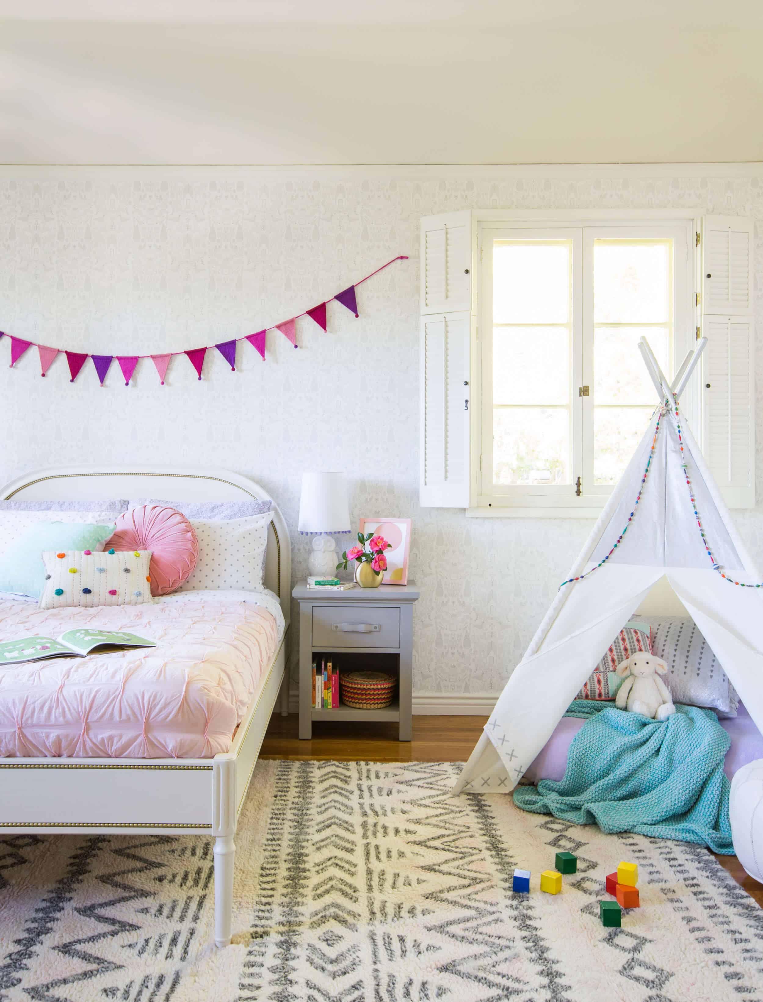 Emily Henderson_Full Design_Little Girls Room_Pink_Gray_Playful_Pics_6