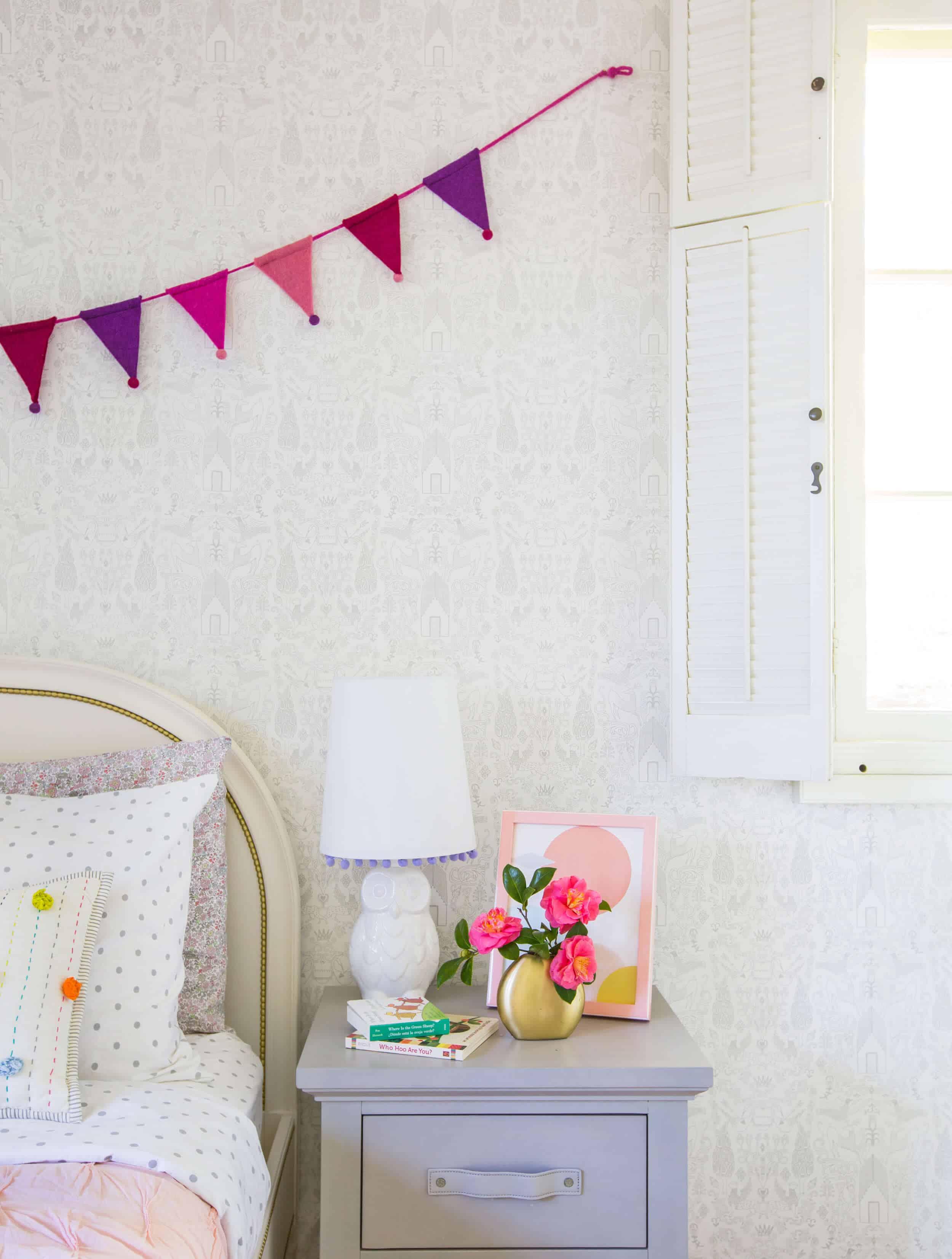 Emily Henderson_Full Design_Little Girls Room_Pink_Gray_Playful_Pics_7