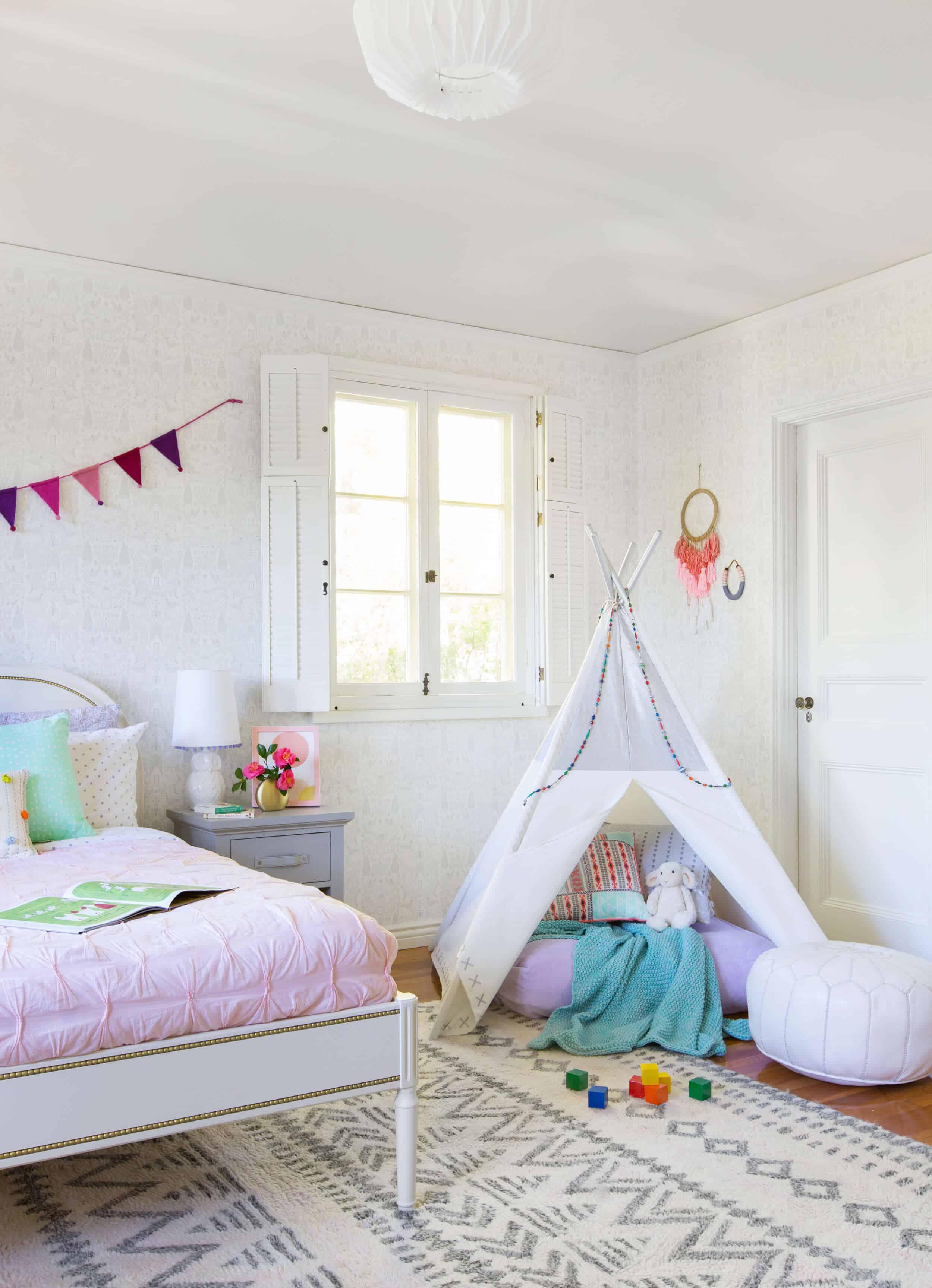 Emily Henderson_Full Design_Little Girls Room_Pink_Gray_Playful_Pics_8