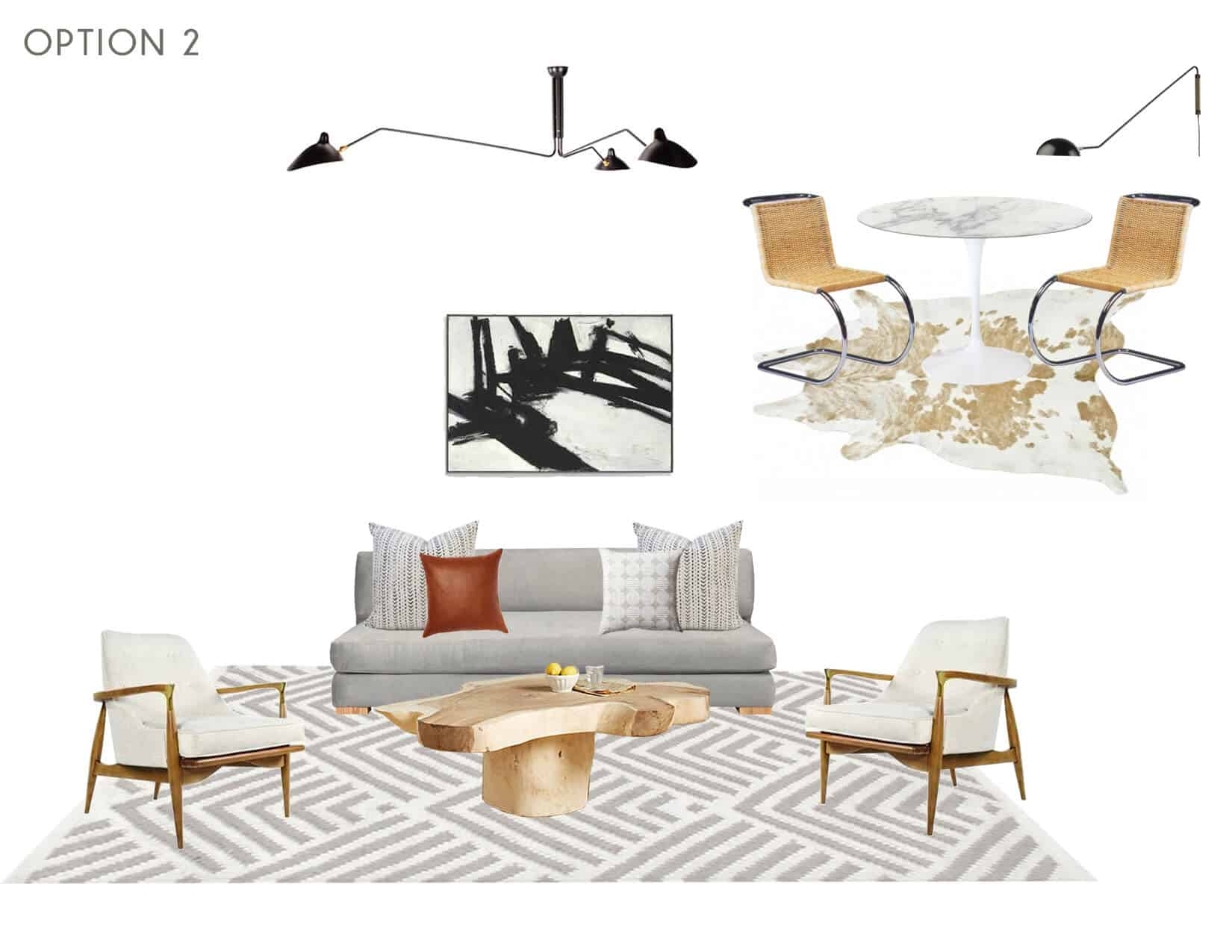Emily Henderson_Full Design_Sunroom_Introduction_Moodboard_Option 2