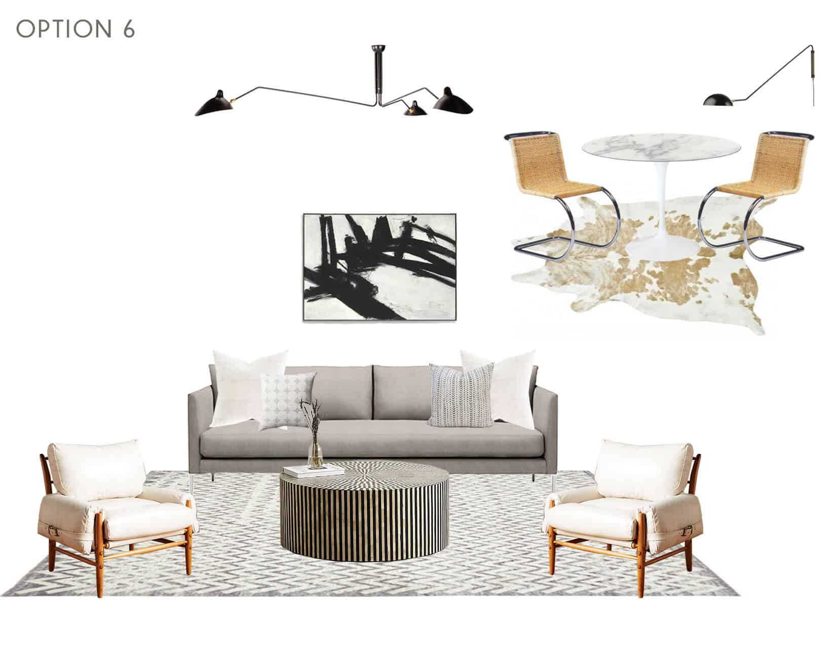 Emily Henderson_Full Design_Sunroom_Introduction_Moodboard_Option 6