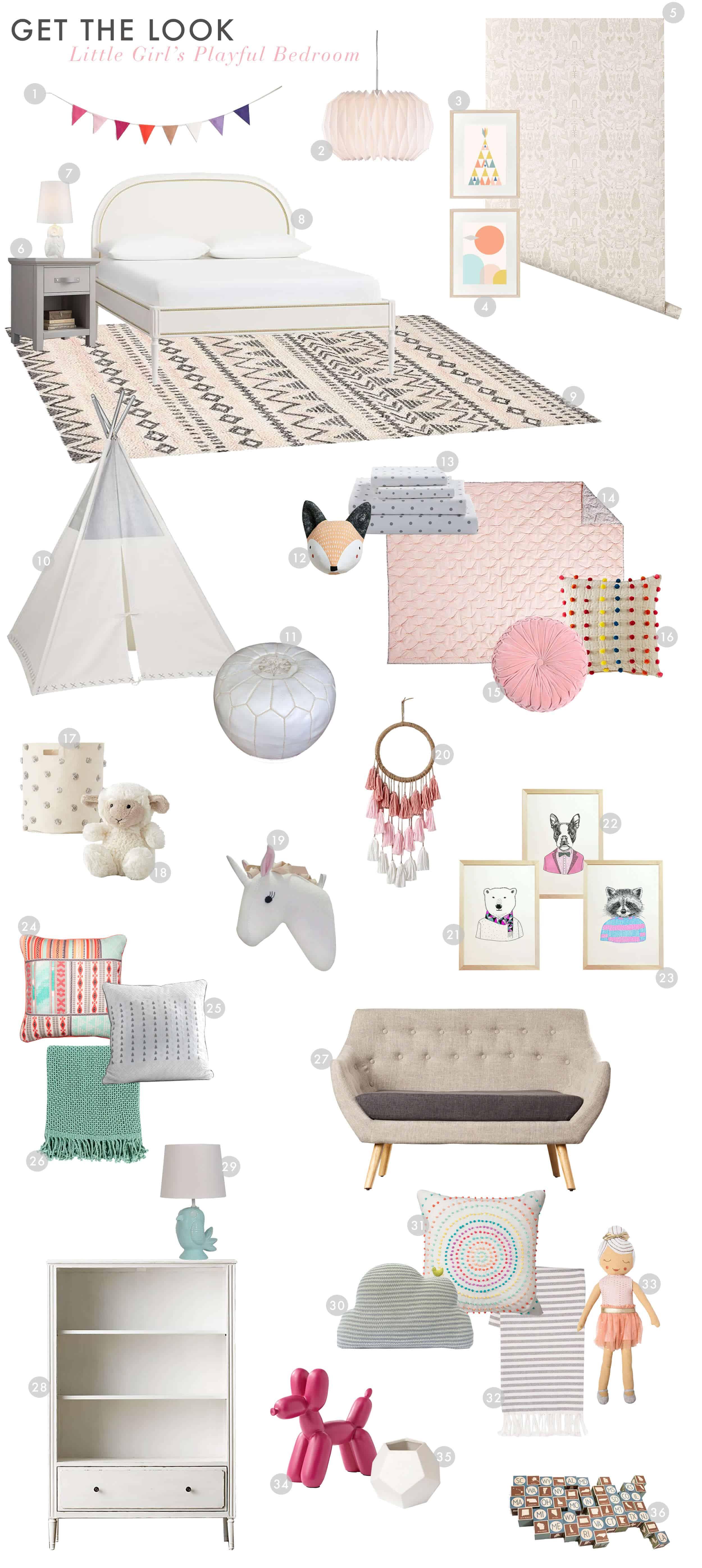 Emily Henderson_Full Service_Design_Girls Bedroom_Playful_Pink_Get the Look