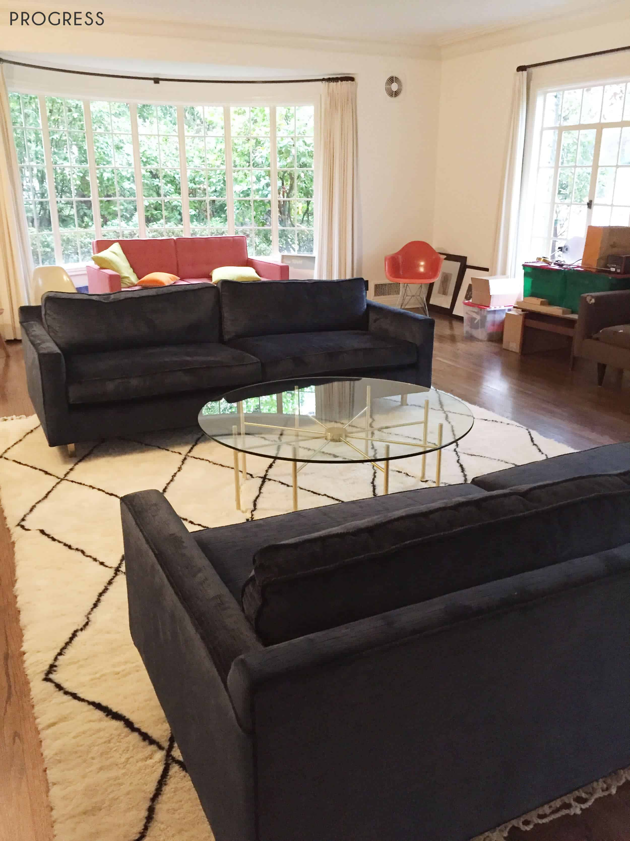 Emily Henderson_Griffith Park Home_Traditional_Italian_Mid Century_Living_Room_Progress_1