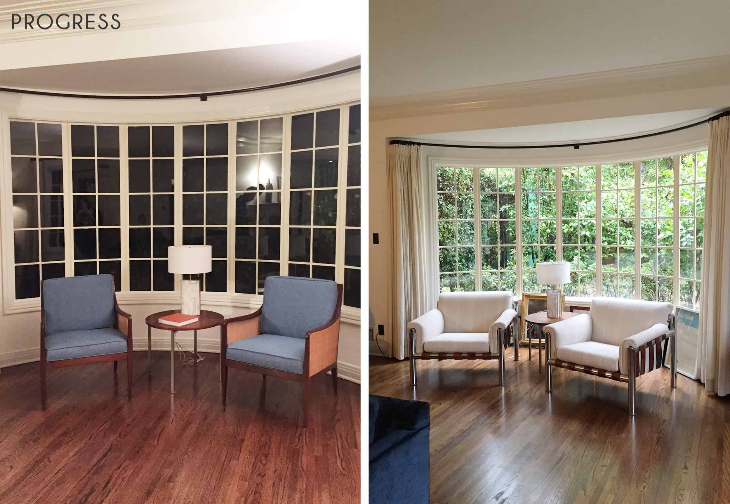 Emily Henderson_Griffith Park Home_Traditional_Italian_Mid Century_Living_Room_Progress_Side by Side_1