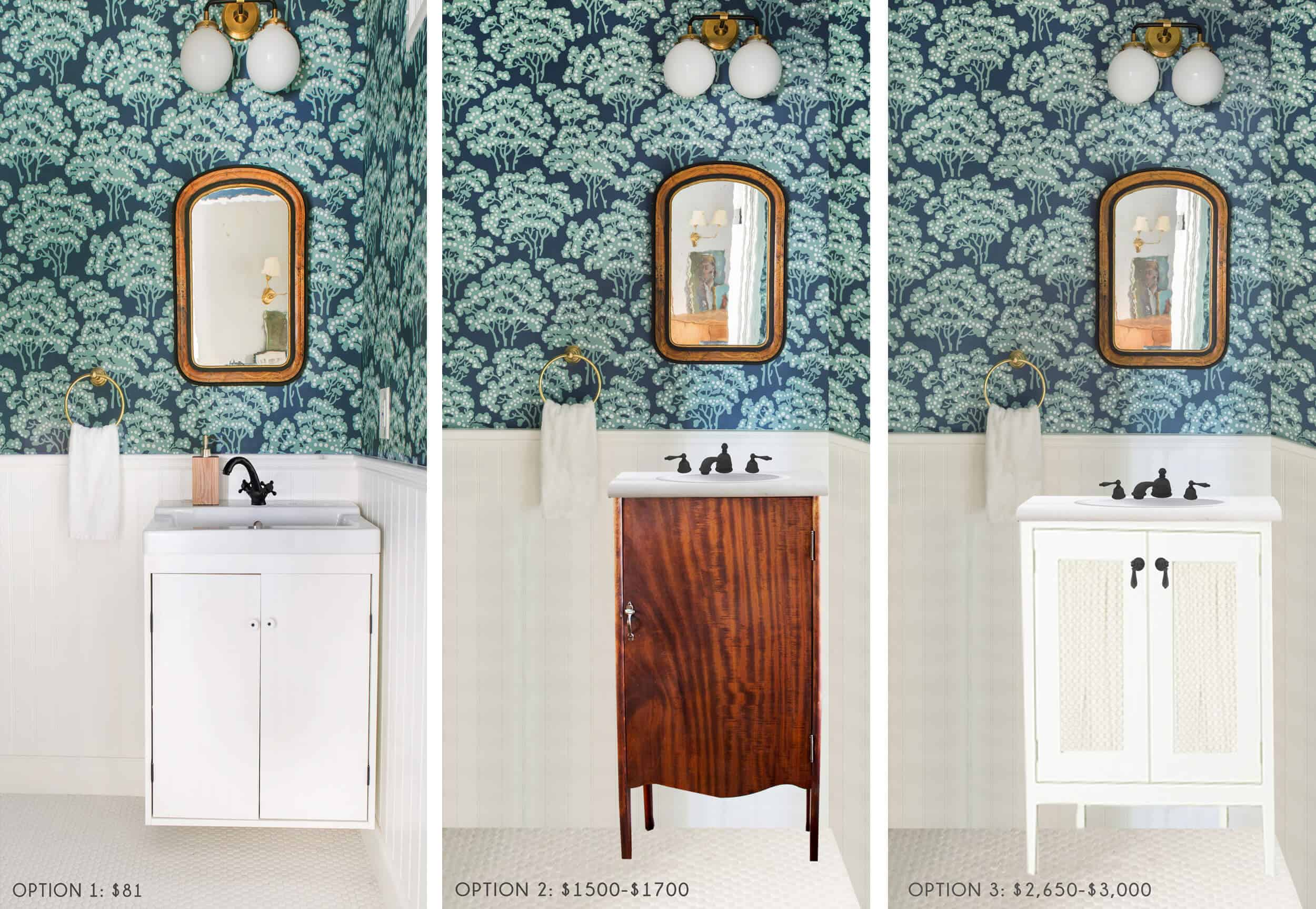Ask The Aunce Powder Room Vanity