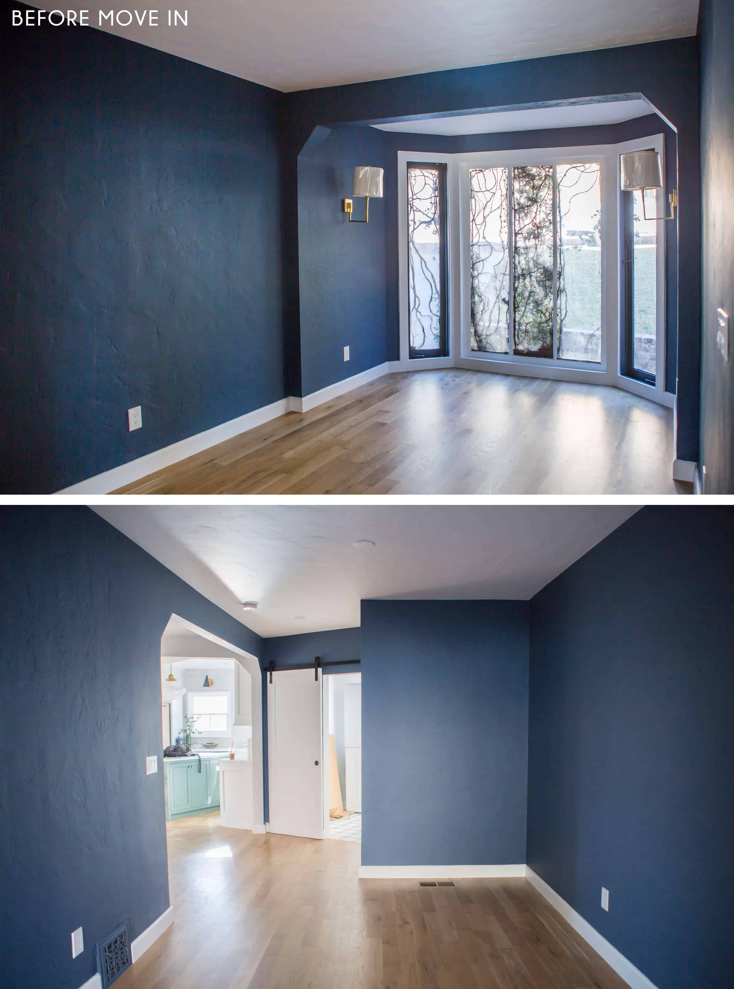 Emily-Henderson_New-House_Modern-English-Cottage_Updates_Family-Room_Side-By-Side_Before-Move-In