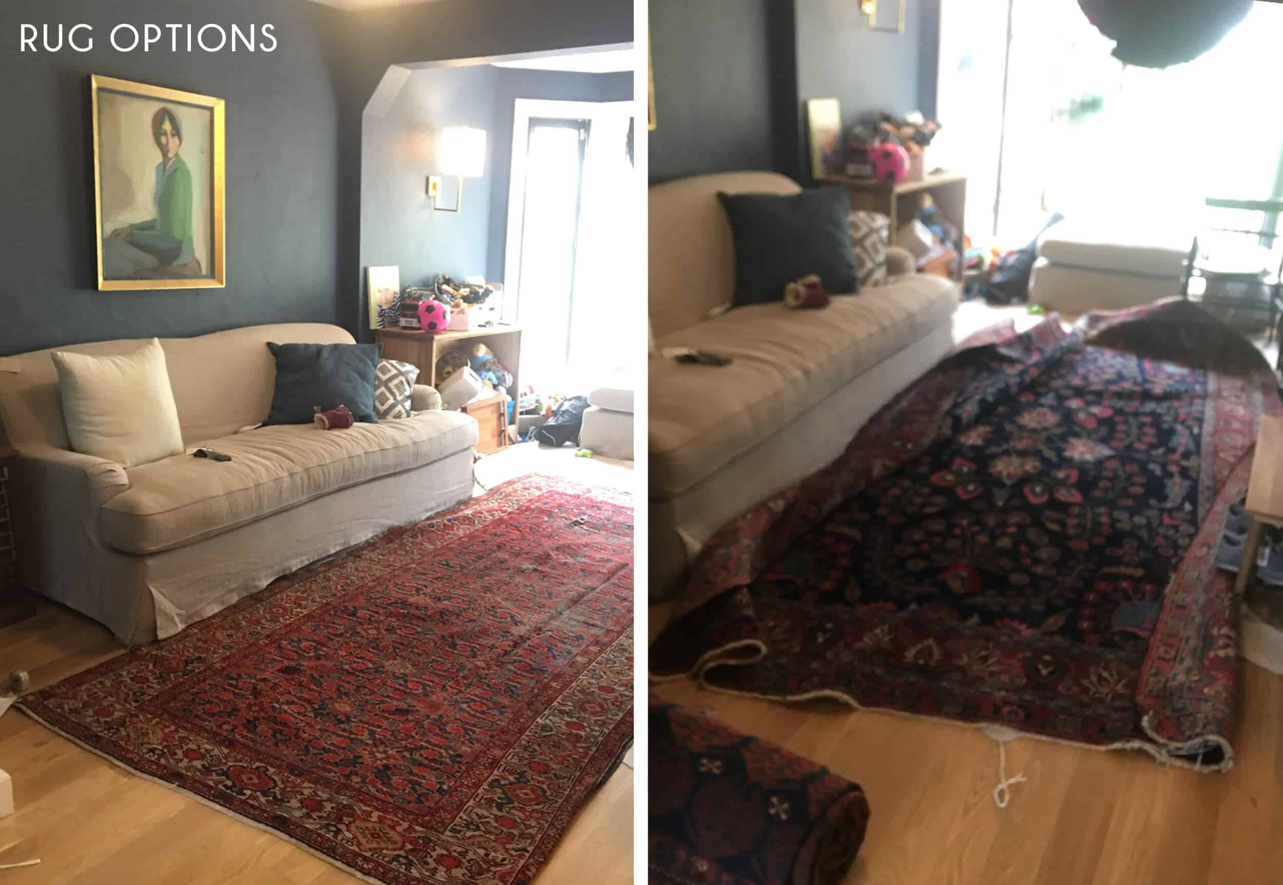 Emily-Henderson_New-House_Modern-English-Cottage_Updates_Family-Room_Side-By-Side_Rug-Options_1