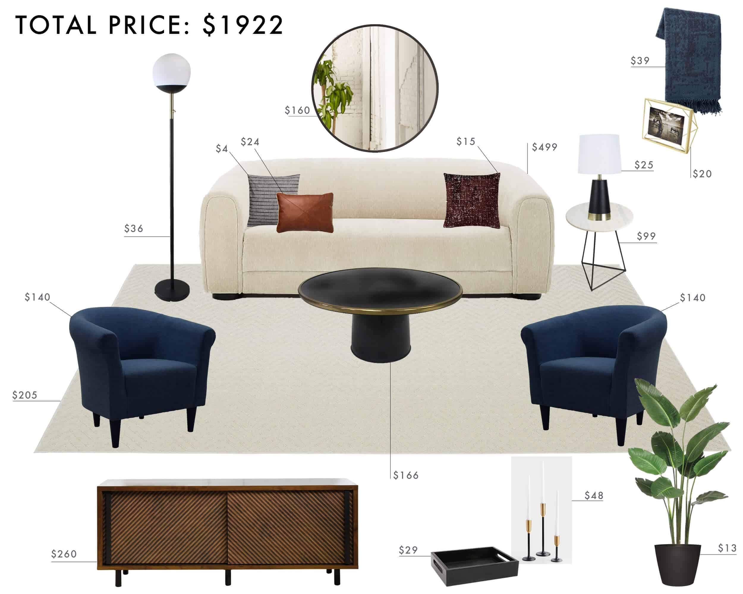 Emily Henderson Budget Room Living Room Modern Italian Structural Rich Tones Traditional Under 2k