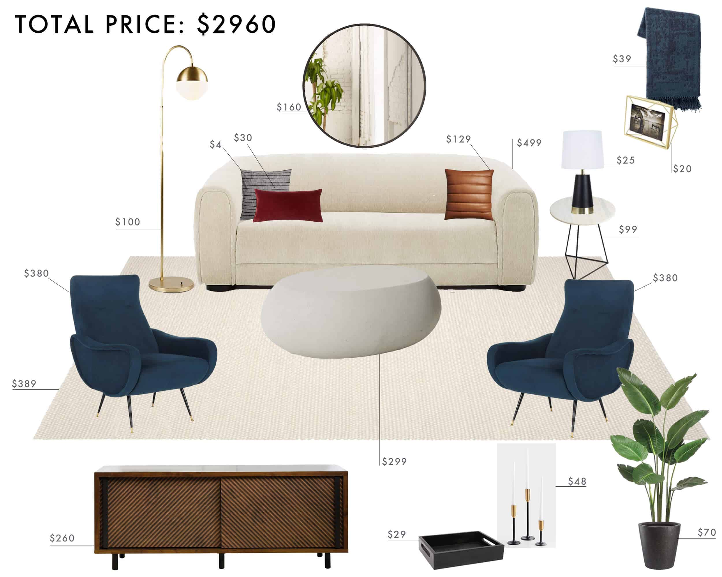 Emily Henderson Budget Room Living Room Modern Italian Structural Rich Tones Traditional Under 3k1
