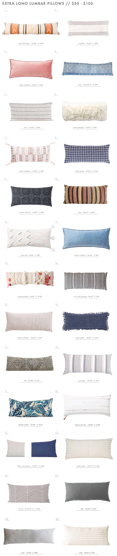 Emily Henderson Exra Long Lumbar Pillows Roundup 50 To 150