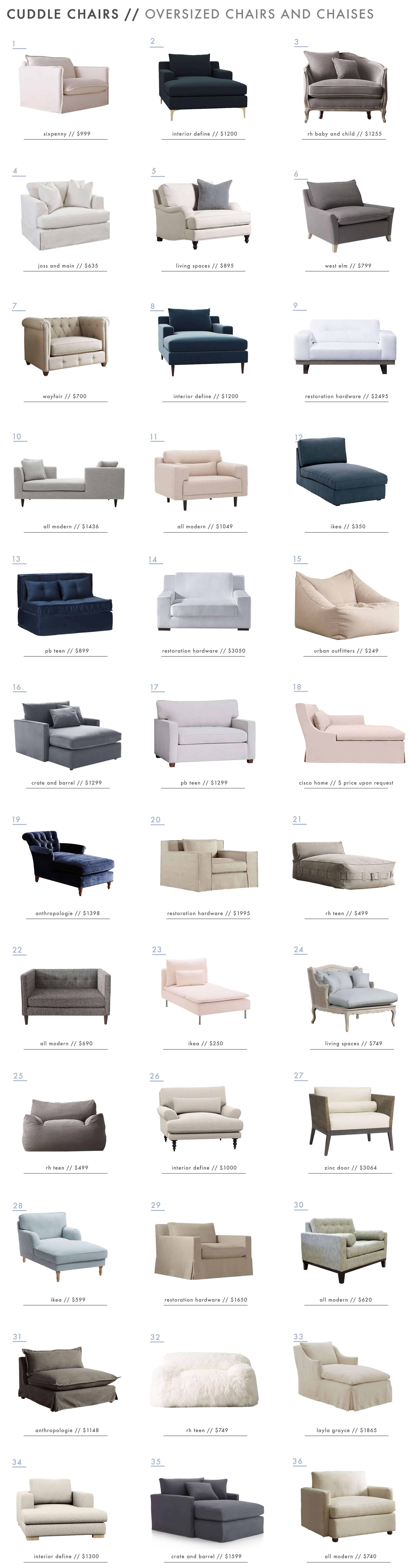 Emily Henderson Oversized Chairs Chair And A Half Chaise Lounge Roundup Edited 1000px 1
