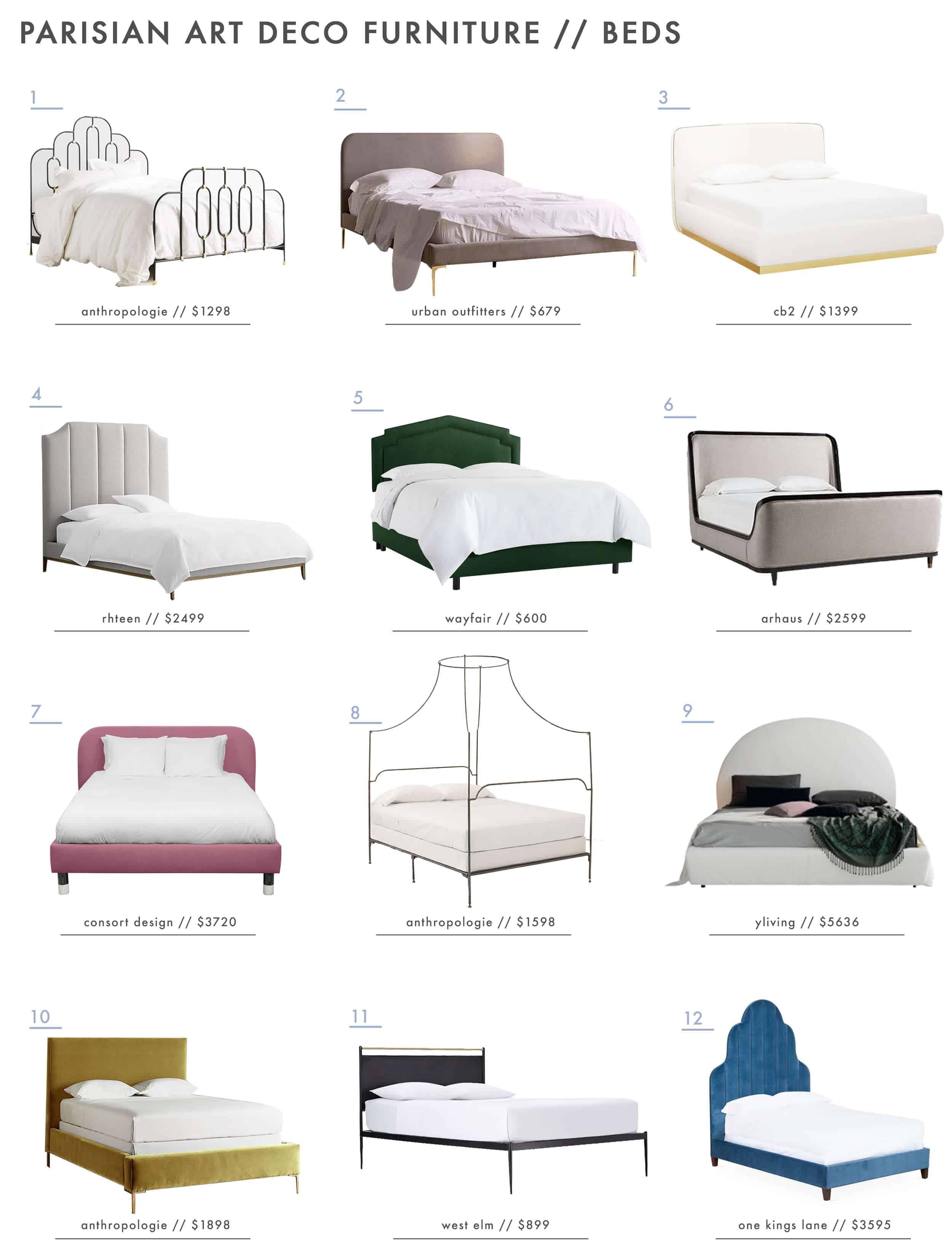 Emily Henderson Parisian Art Deco Furniture Beds Roundup