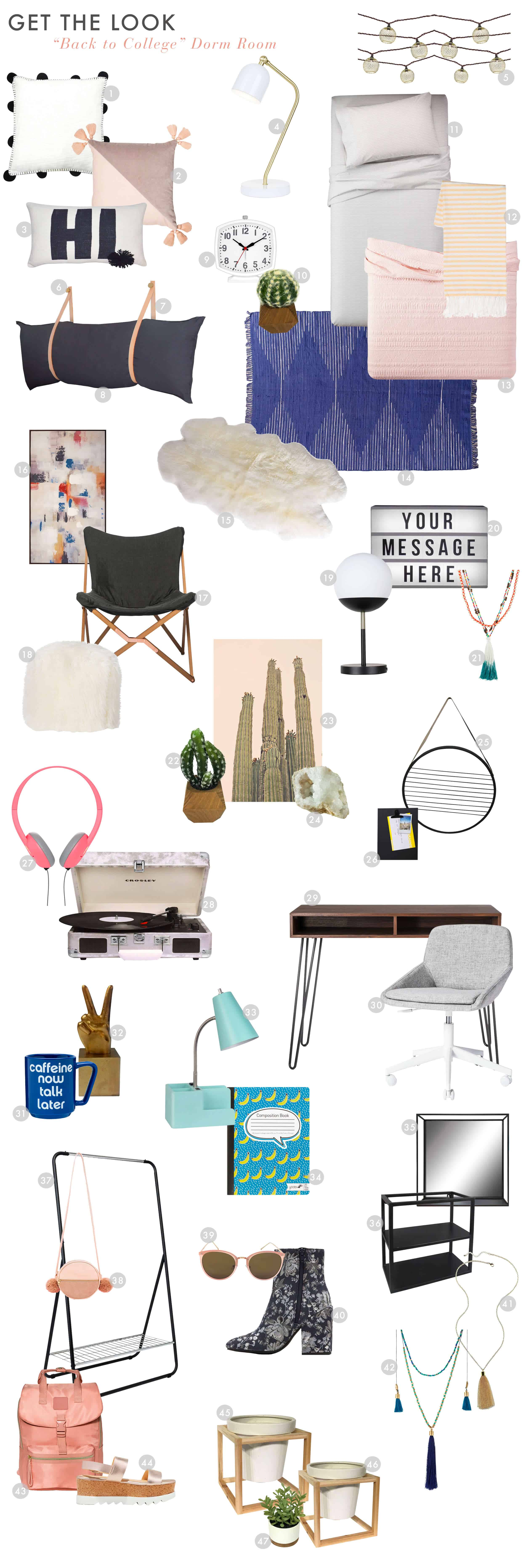 Emily Henderson Target Dorm Room Cool Hip Dyi Get The Look1