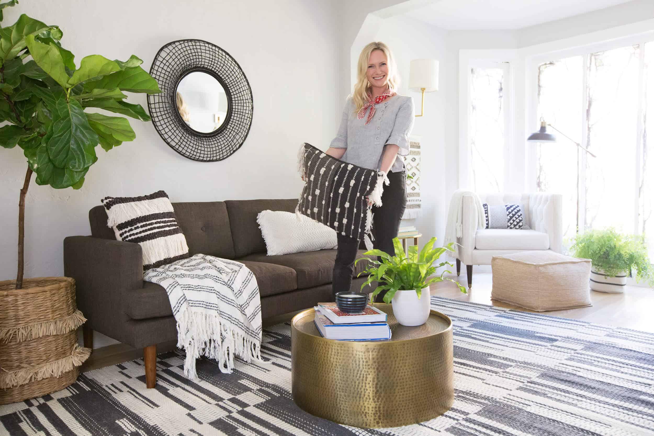 Target Budget Living Room - Emily Henderson
