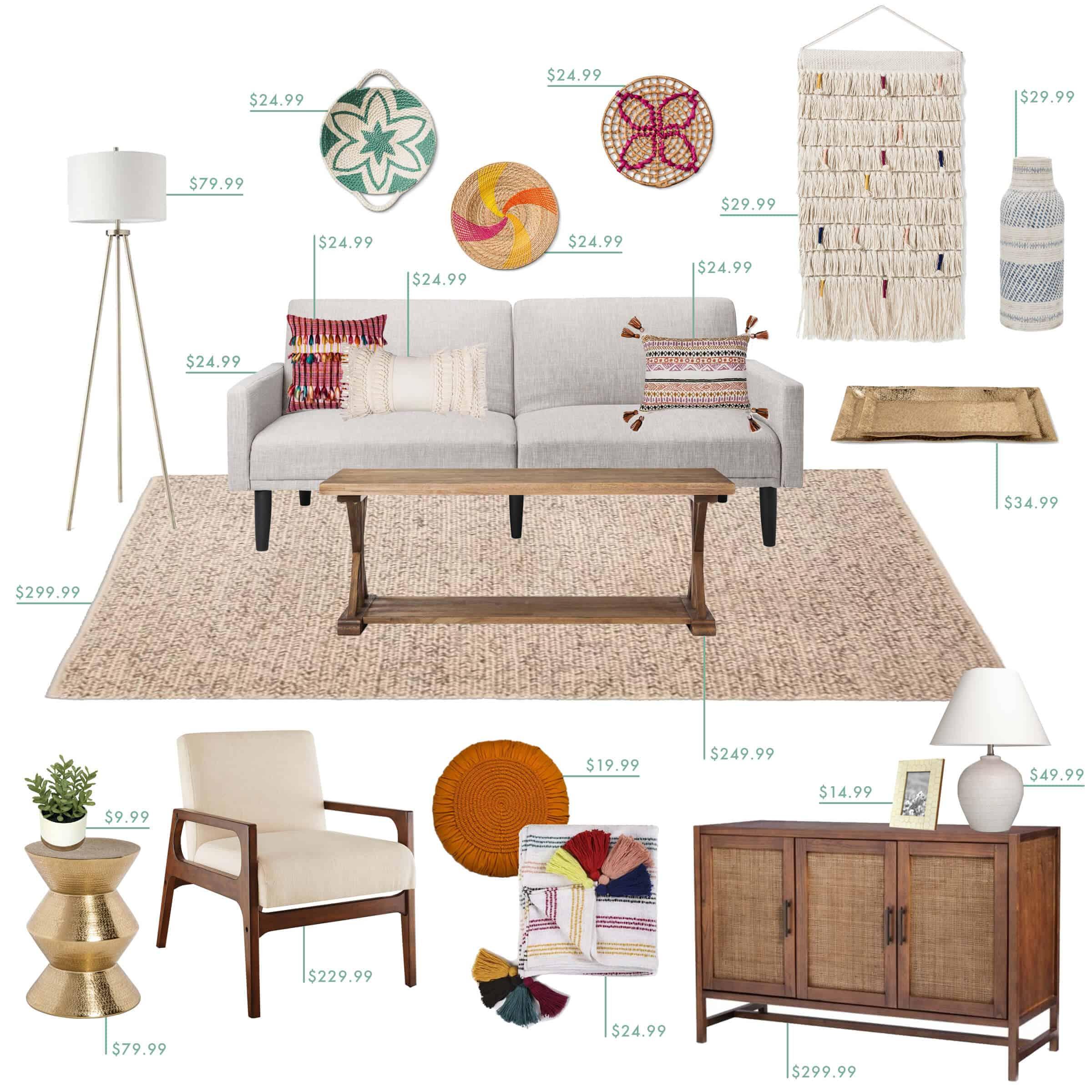 Emily Henderson Target Living Room Boho
