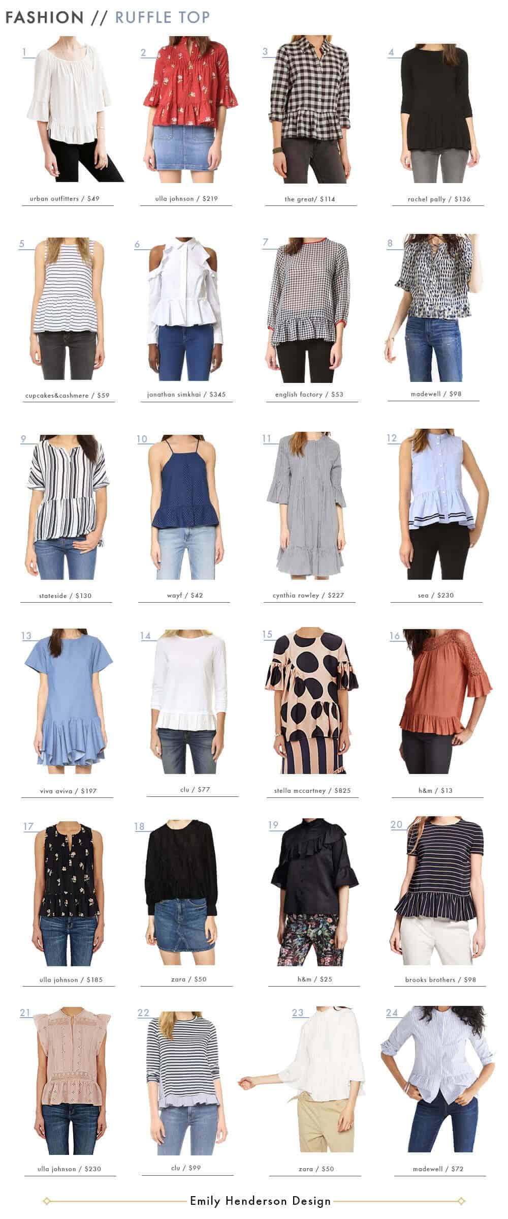 Ruffle Top Roundup Womens Fashion Emily Henderson Design4