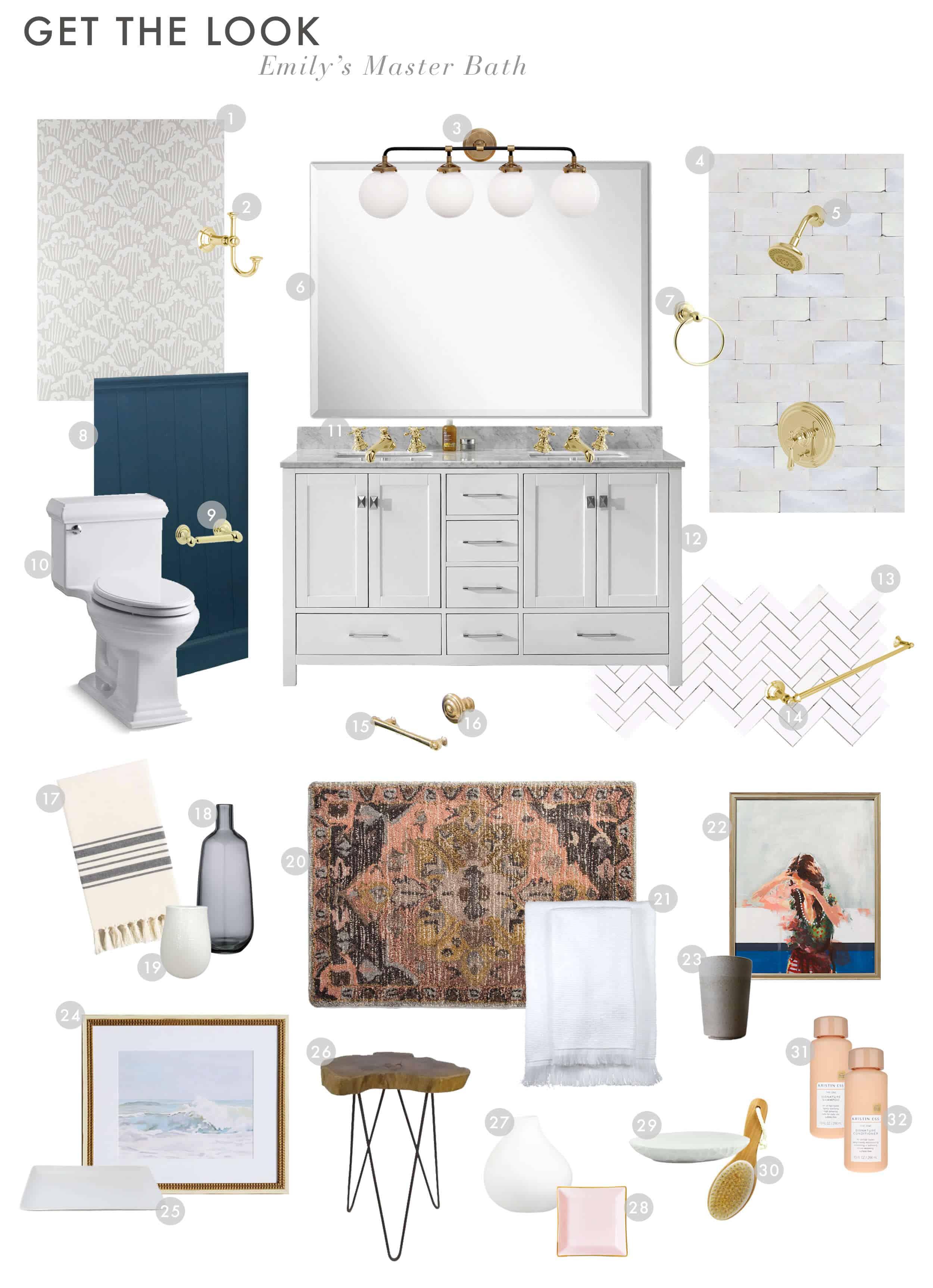 Emily Henderson Emilys House Modern English Tudor Master Bathroom Reveal Get The Look 01