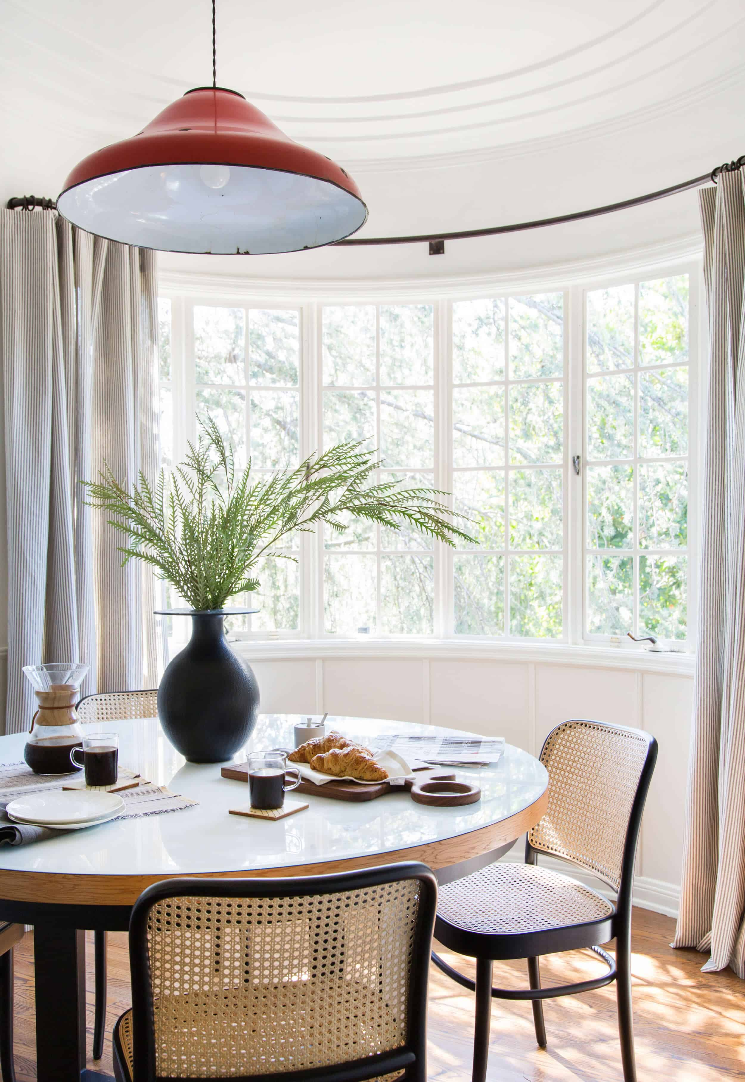 Emily Henderson Griffith Park House Traditional Italian Modern Dining Nook Reveal 031