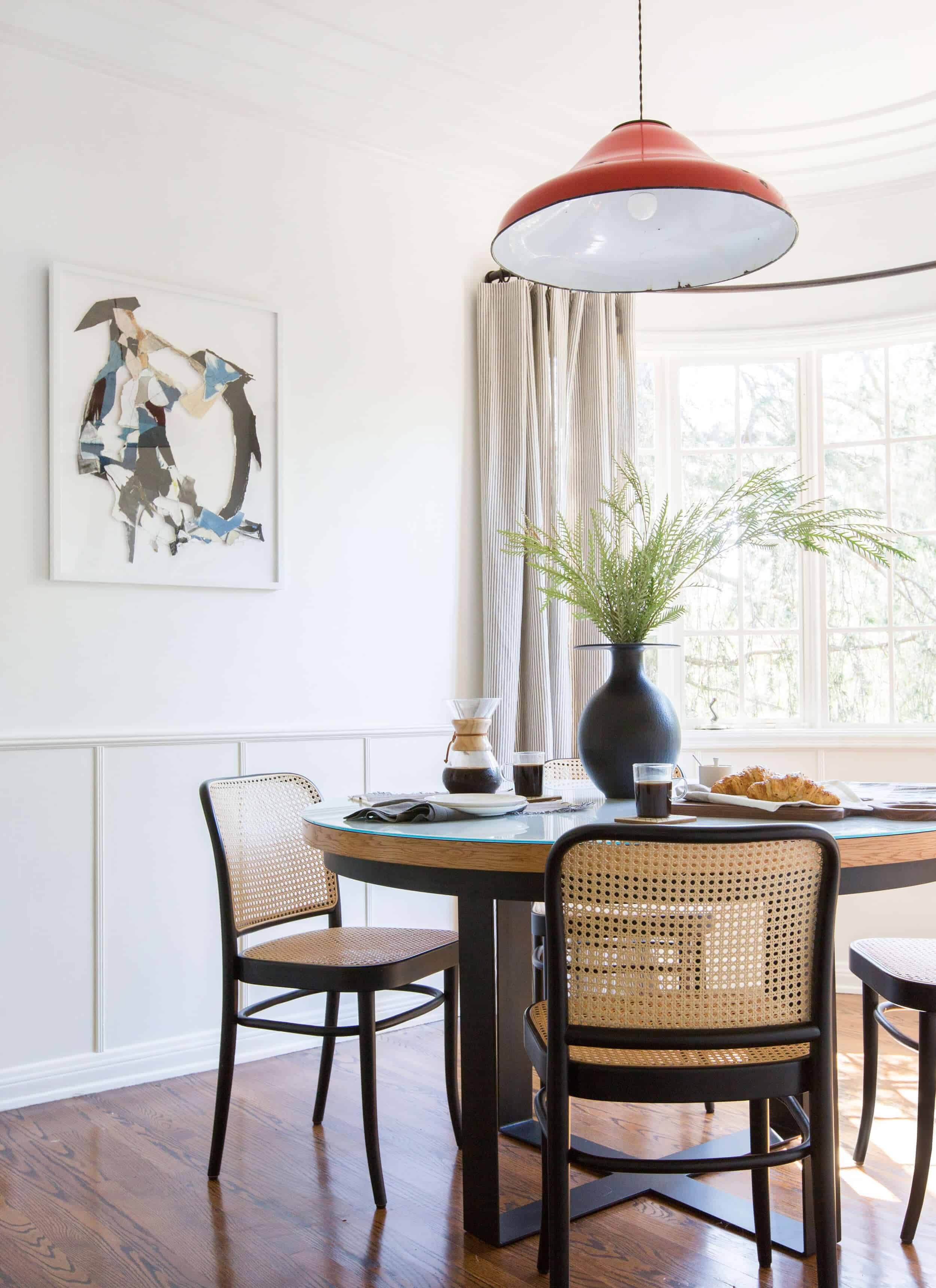 Emily Henderson Griffith Park House Traditional Italian Modern Dining Nook Reveal 08