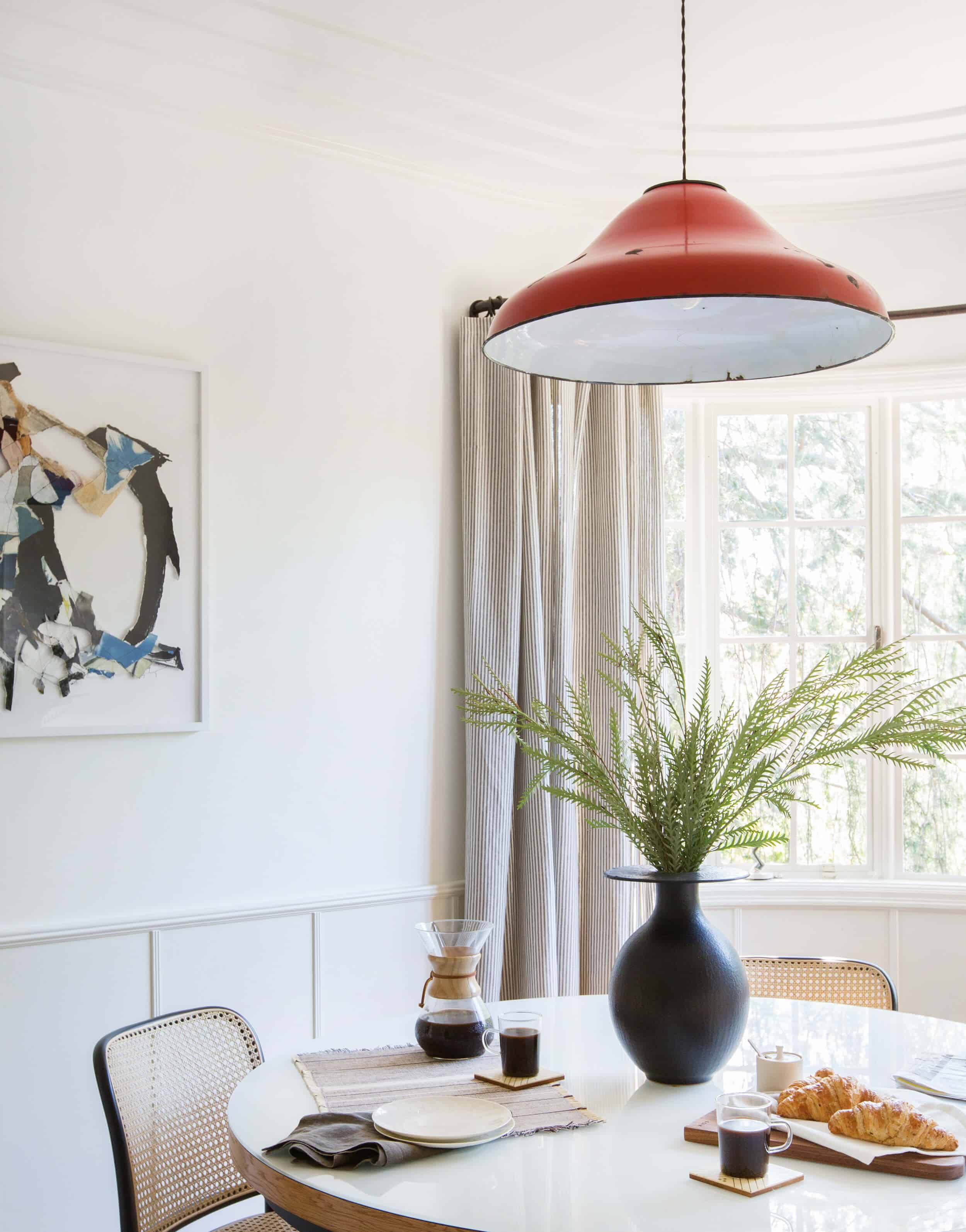 Emily Henderson Griffith Park House Traditional Italian Modern Dining Nook Reveal 09