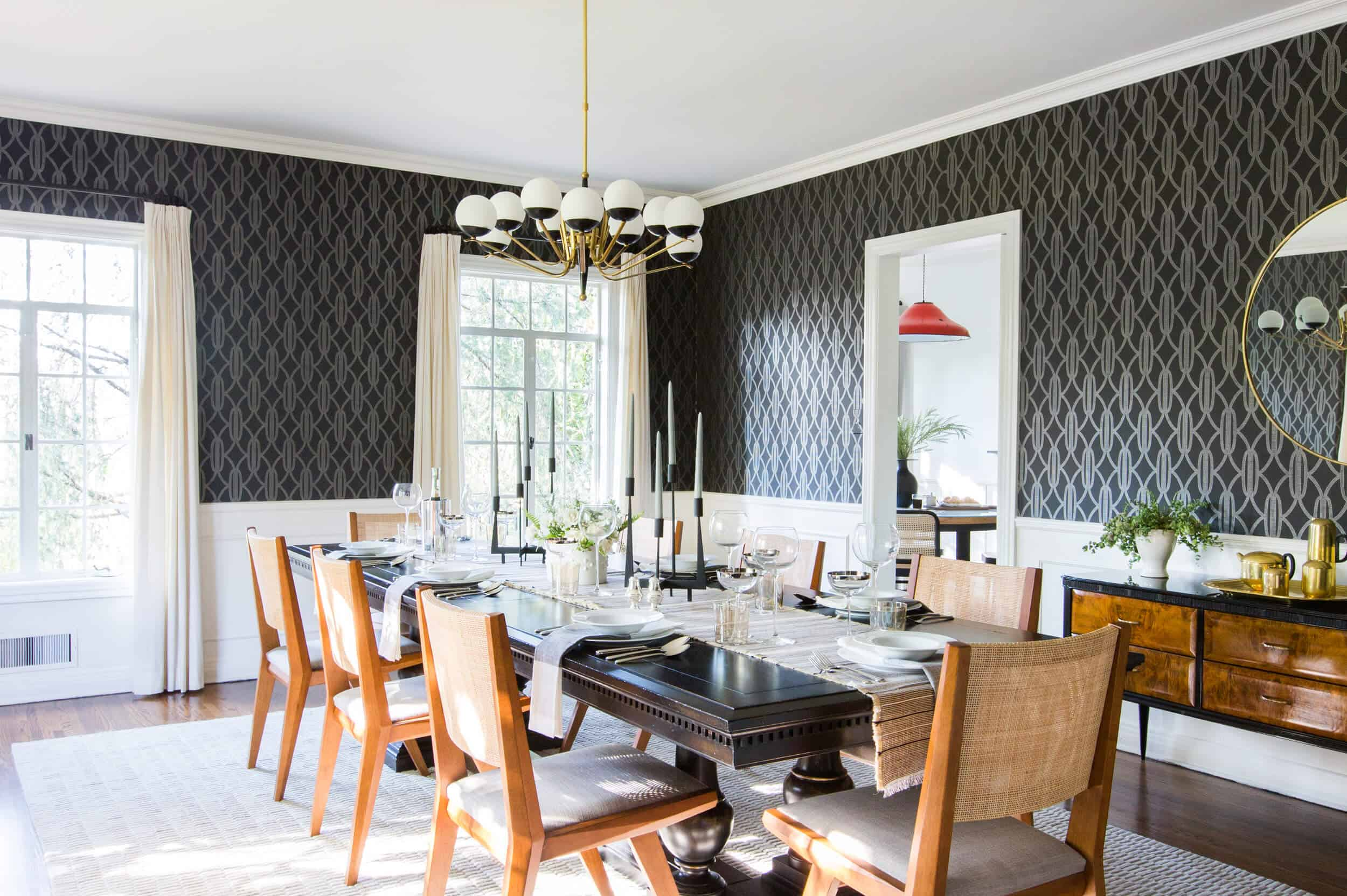 Emily Henderson Griffith Park House Traditional Italian Modern Dining Room Reveal 02