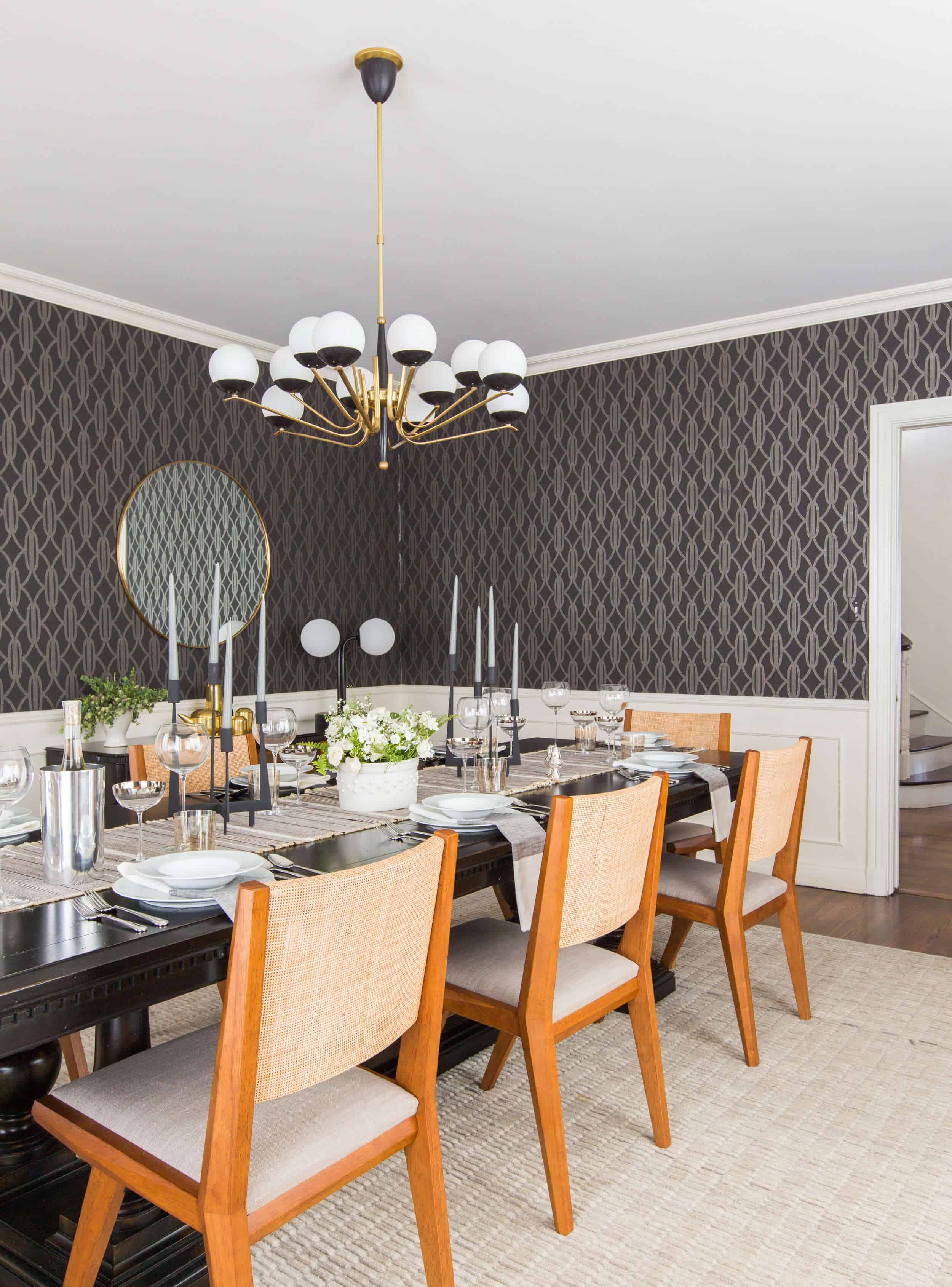 Emily Henderson Griffith Park House Traditional Italian Modern Dining Room Reveal 14
