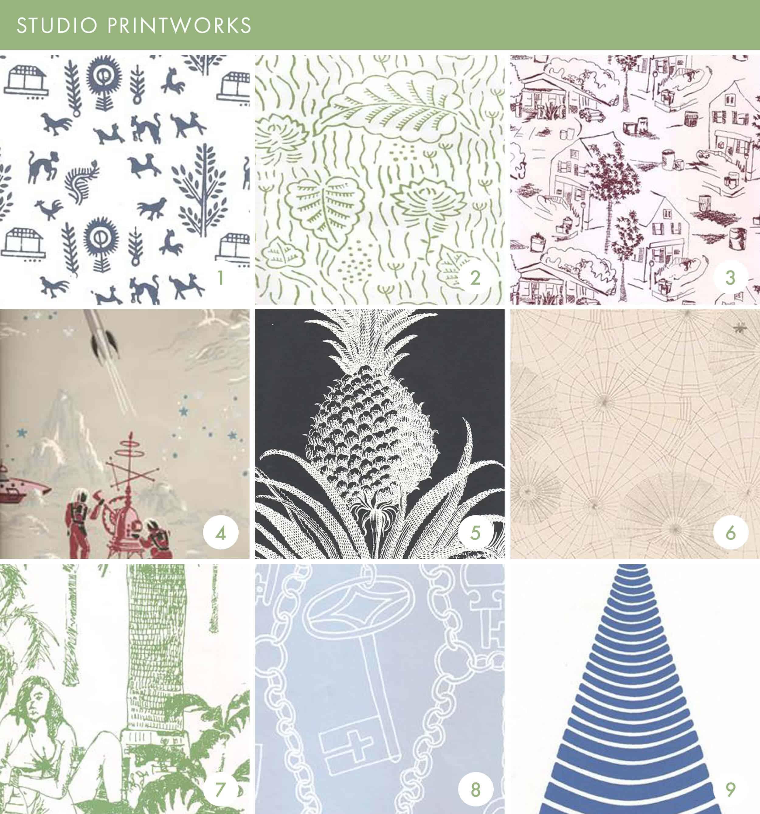 Emily Henderson Online Wallpaper Roundup Studio Print Works