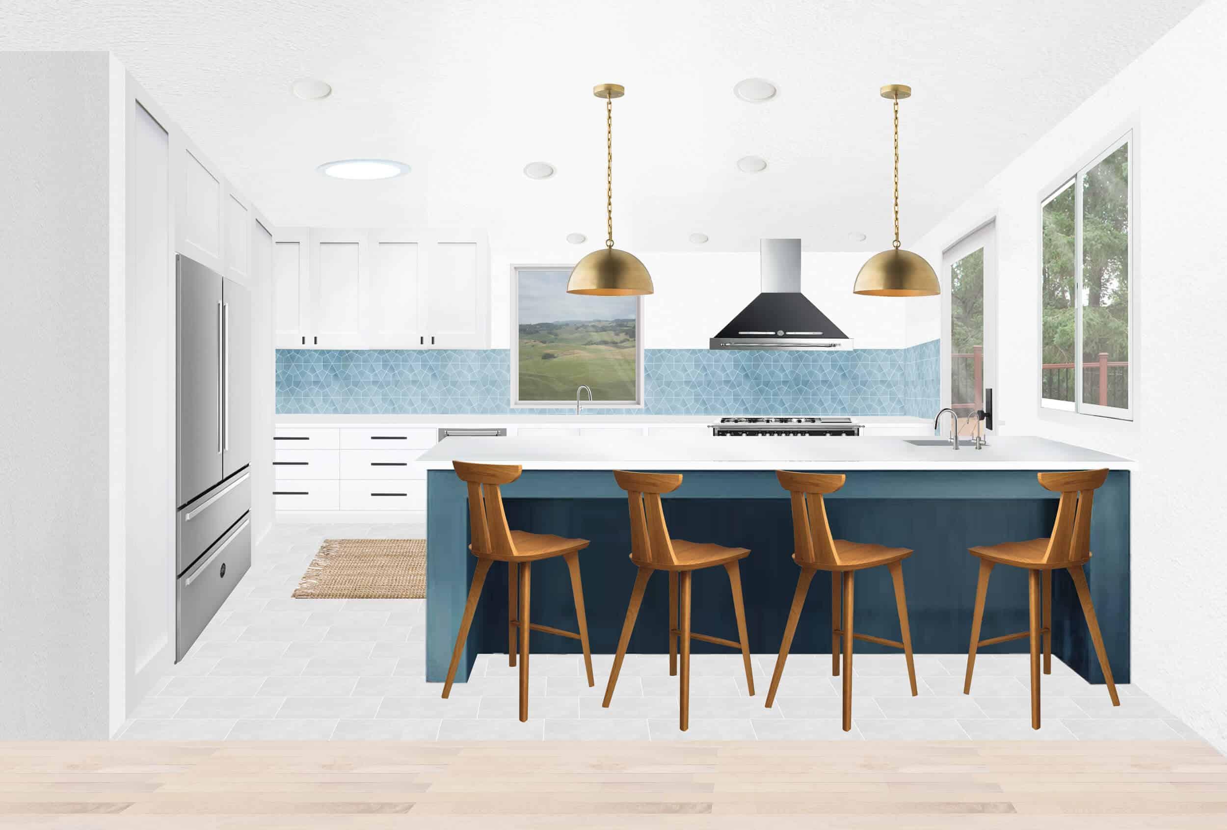 Catherines Kitchen Render Island Living Post