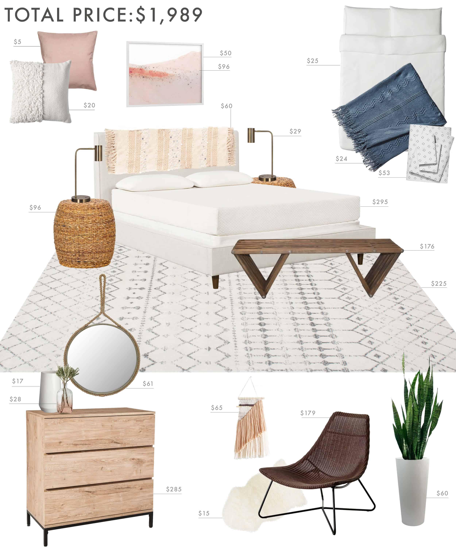 Emily Henderson Budget Room Bedroom Boho 20001